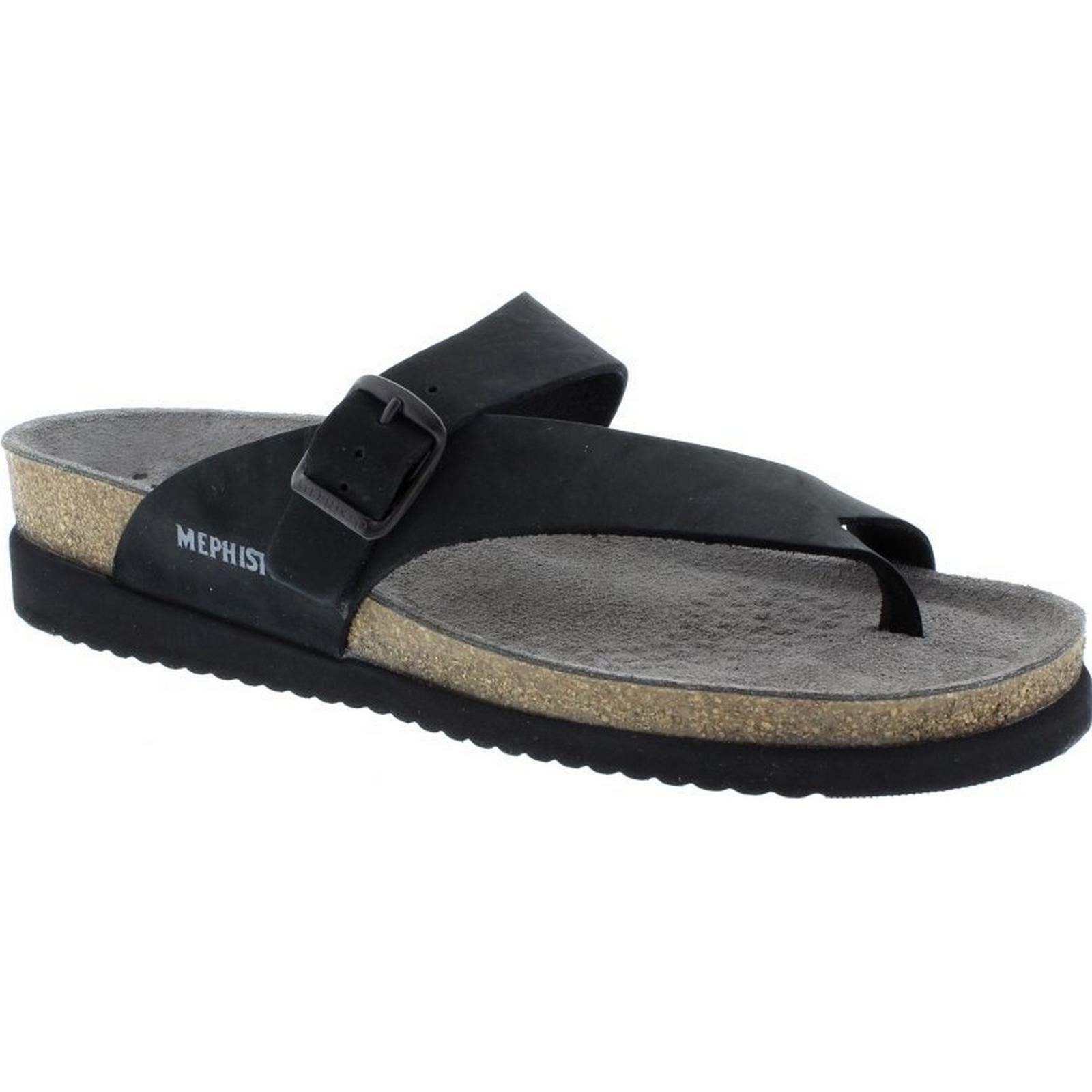 méphisto méphisto méphisto helen - noir sandalbuck taille: 43 ue f8ce93