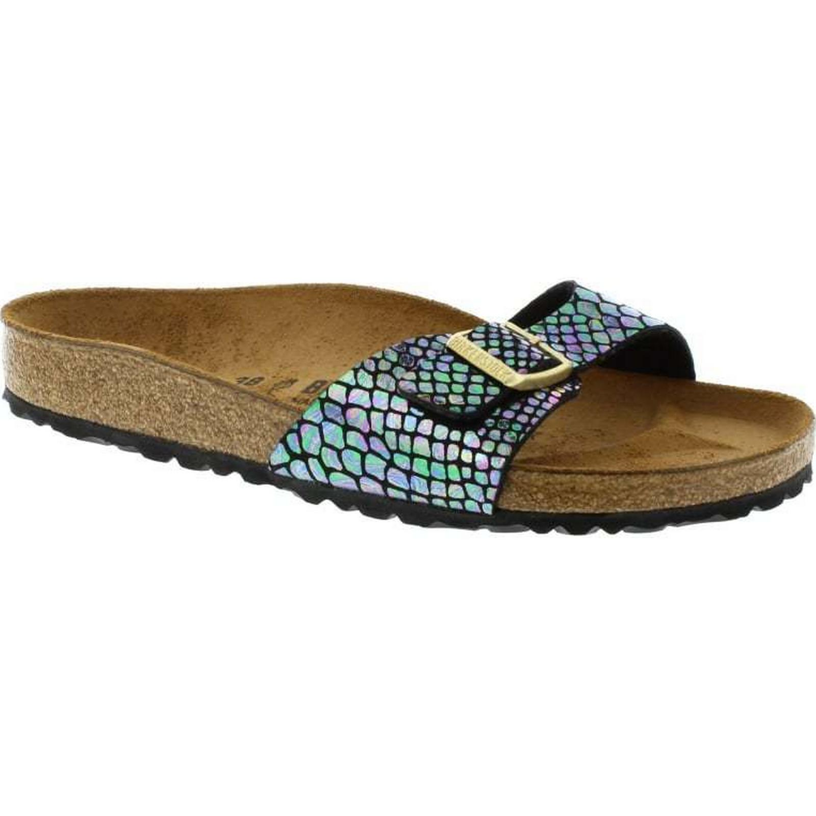 Birkenstock Multi Madrid Regular Fit - Shiny Snake Black Multi Birkenstock 1003460 Size: f705d1