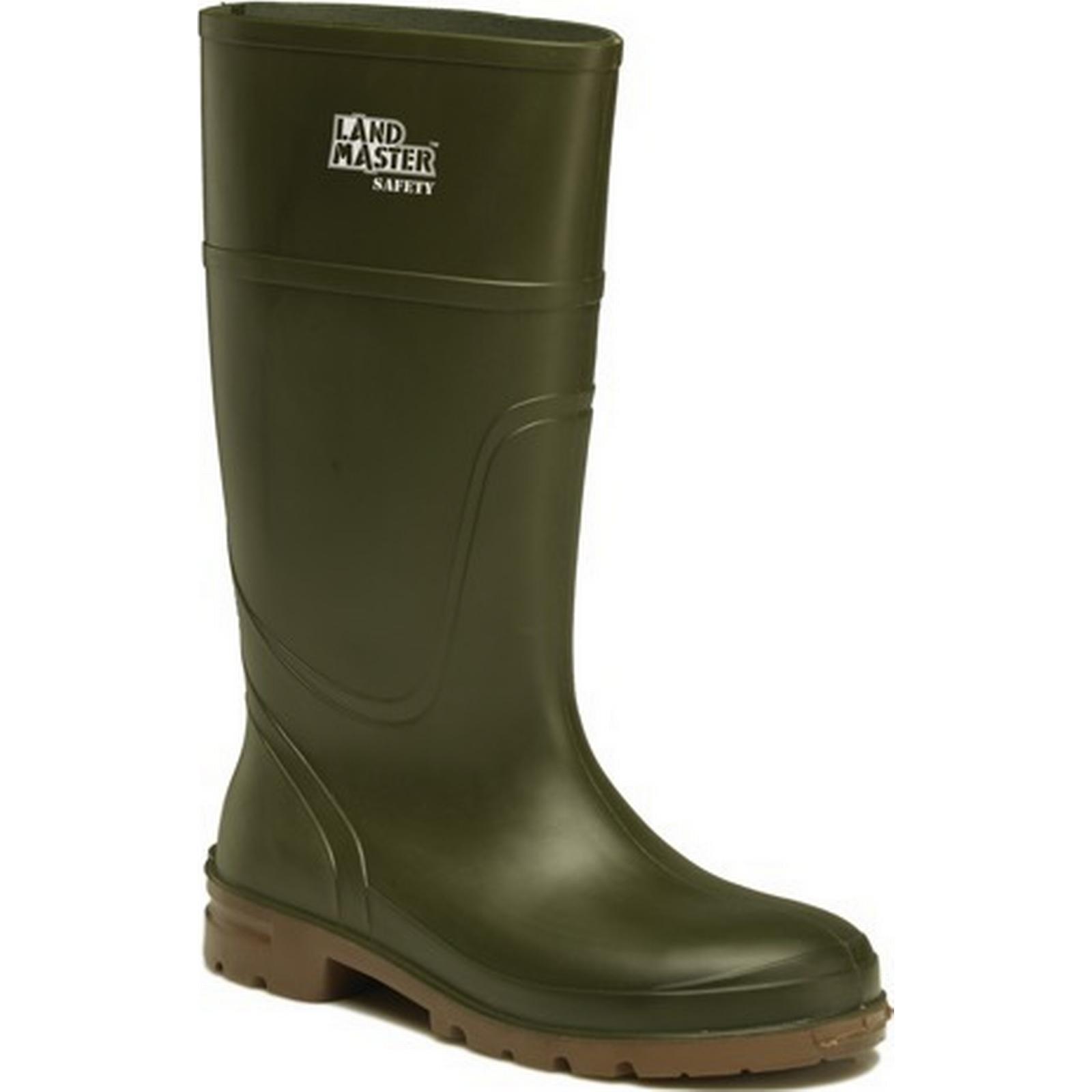 Dickies Workwear Safety Landmaster Wellington Boot Green / Size Size / 10 bc44de