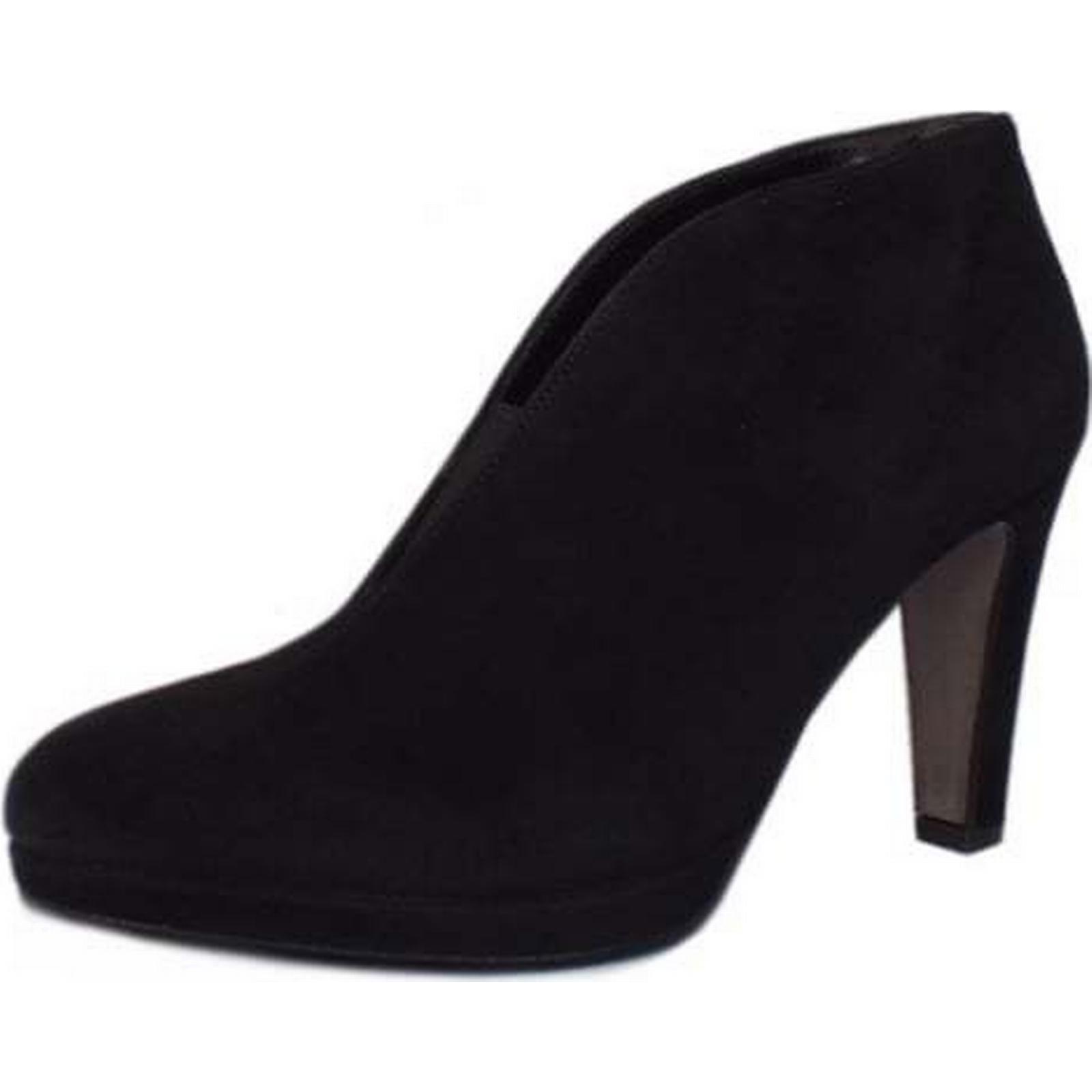 Gabor AMIEN GABOR GABOR AMIEN LADIES ANKLE BOOTS Size: 6, Colour: BLACK SUED 3e3024