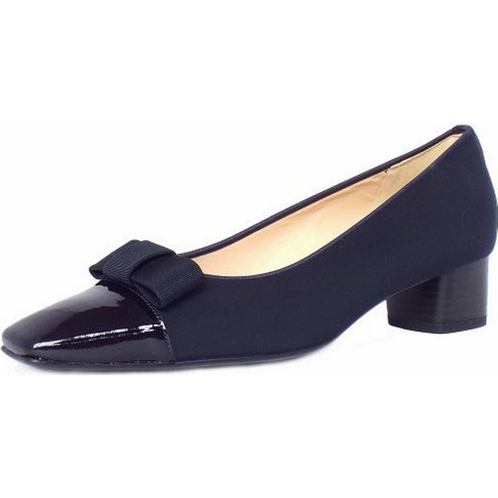 Peter Kaiser Kaiser Peter Beli low heel court shoes in navy Size: 9, Colour: NAVY 4e897b