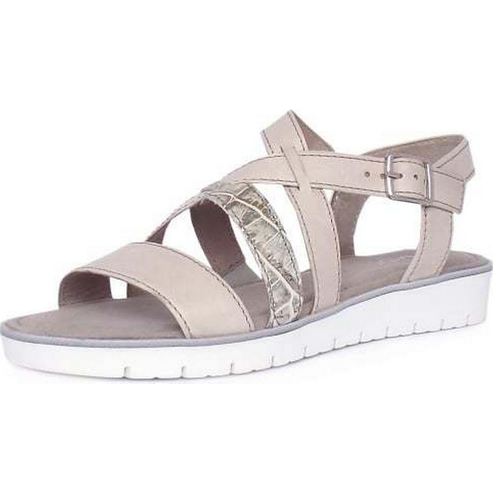 Gabor DONATELLA GABOR LADIES SANDALS Size: 6, STONE Colour: STONE 6, a4b600