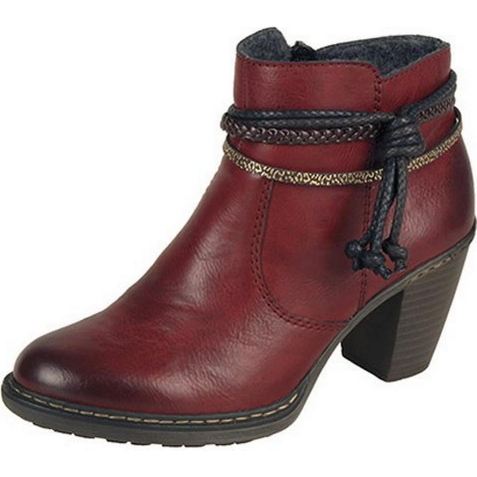 Rieker MARLOW LADIES RIEKER SHORT ANKLE BOOT BOOT ANKLE Size: 36, Colour: RED c0be4e