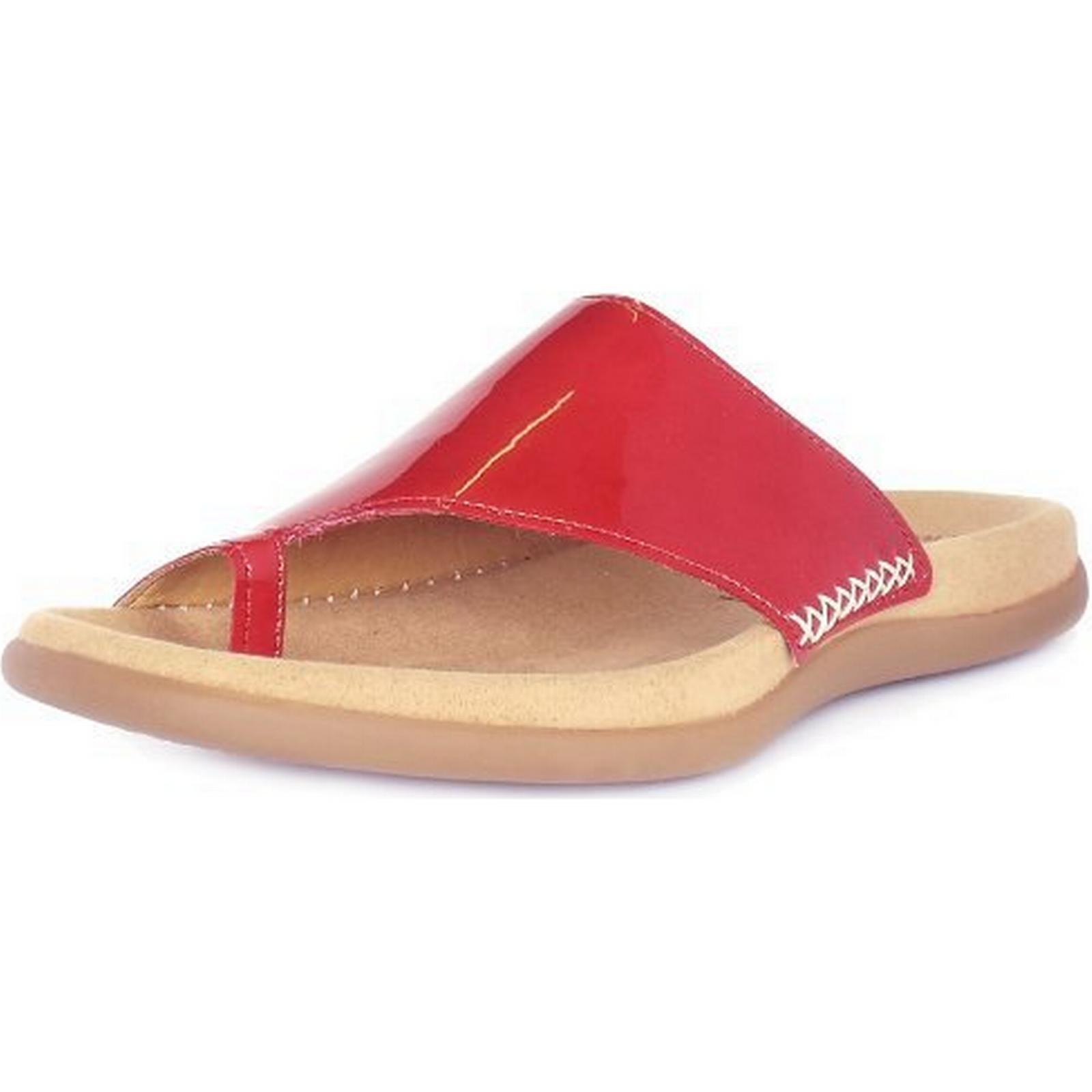 gabor lanzarote gabor mesdames sandales, taille: 36 36 36 brevets couleur: rouge dd9a23