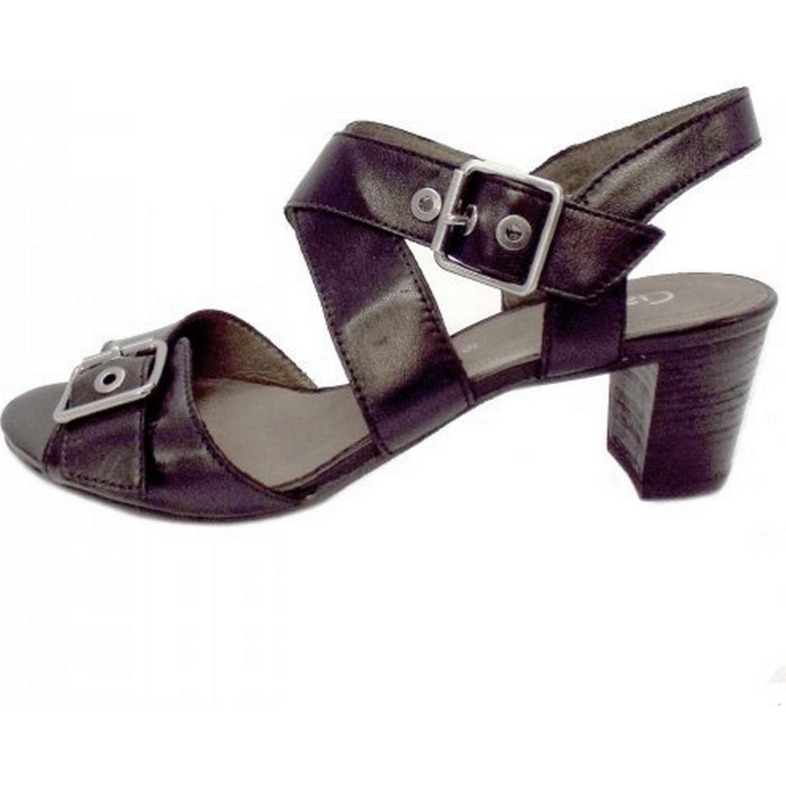 Gabor Britney Britney Gabor High Heel Sandal in Black Leather Size: 8, Colour: BLACK fbc96b