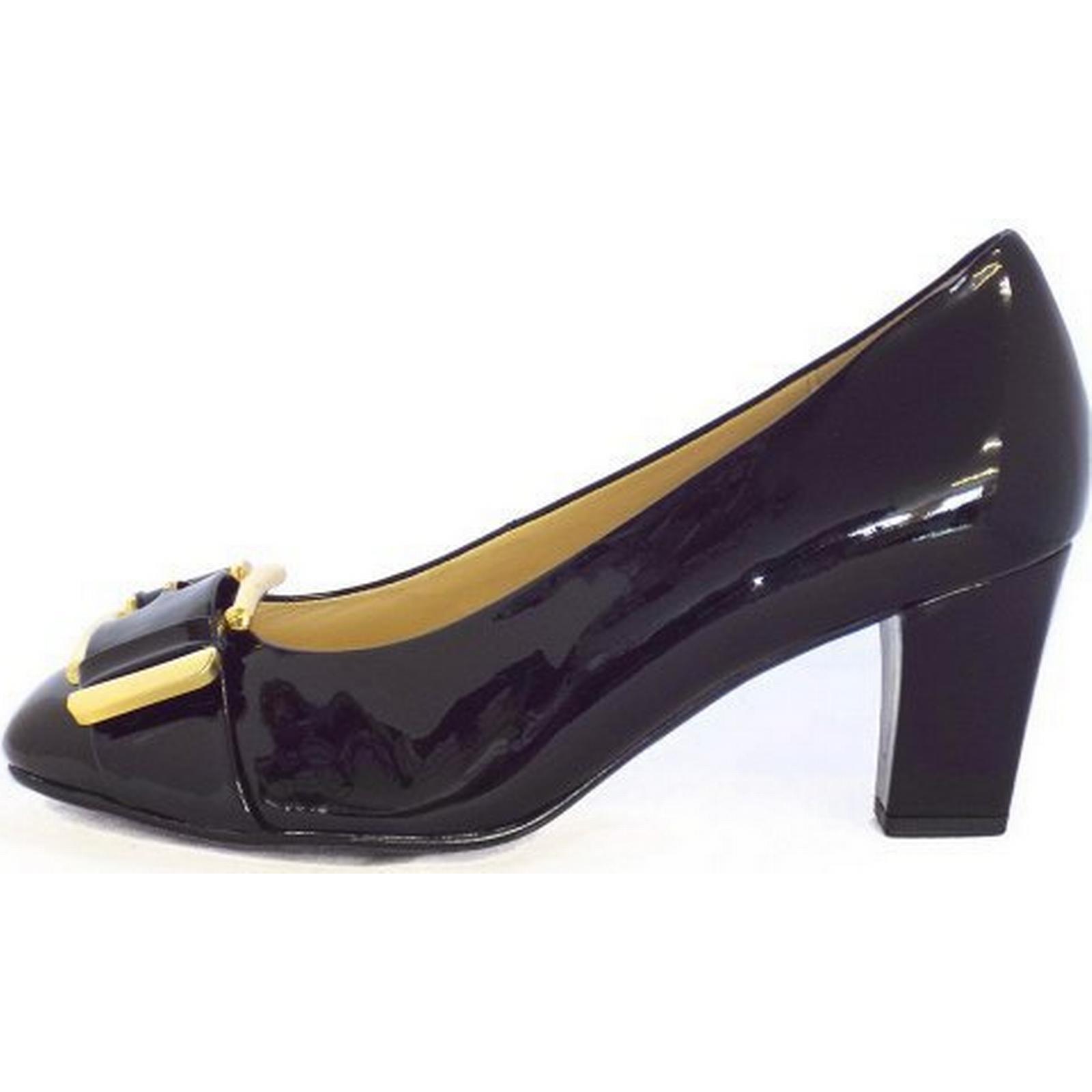 gabor admiration mesdames mesdames mesdames cour chaussure taille: 3 brevets dans le noir, couleur: bl d12816