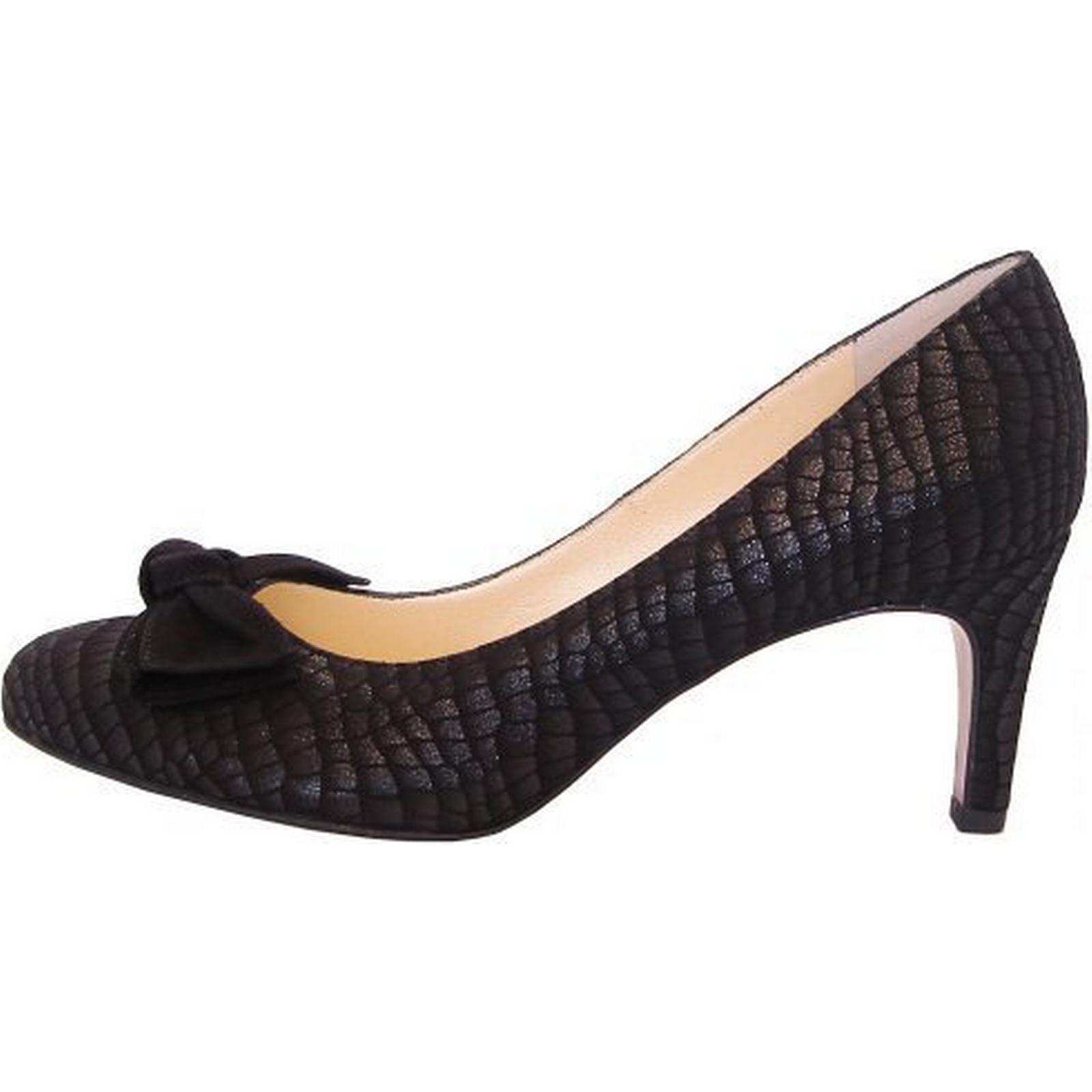 peter kaiser de baska habillé cour de kaiser chaussures avec arc en daim noir taille: 2. b3a8b7