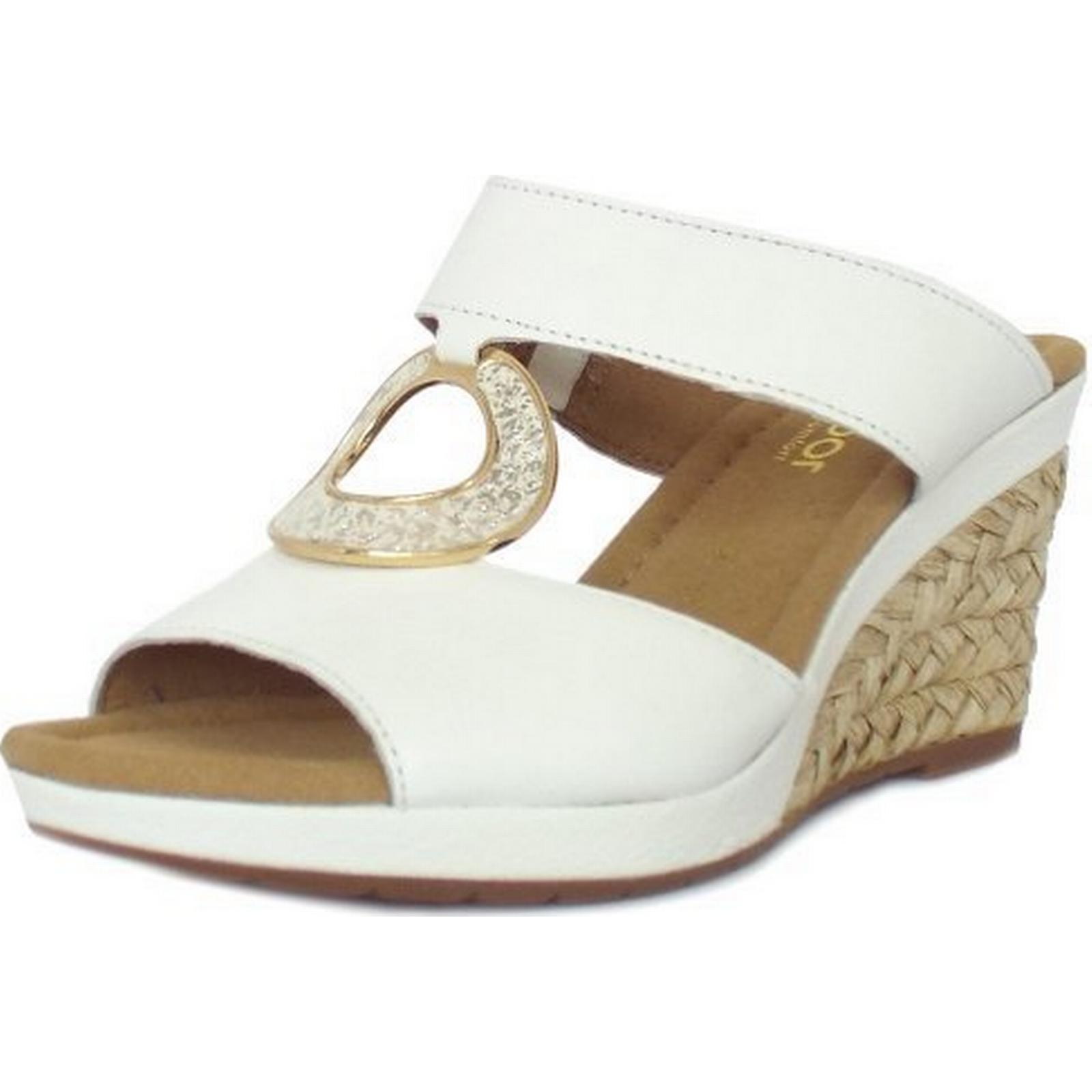 Gabor SIZZLE GABOR LADIES SANDALS 22 821 50 50 821 Size: 6, Colour: WHITE 5f7af3