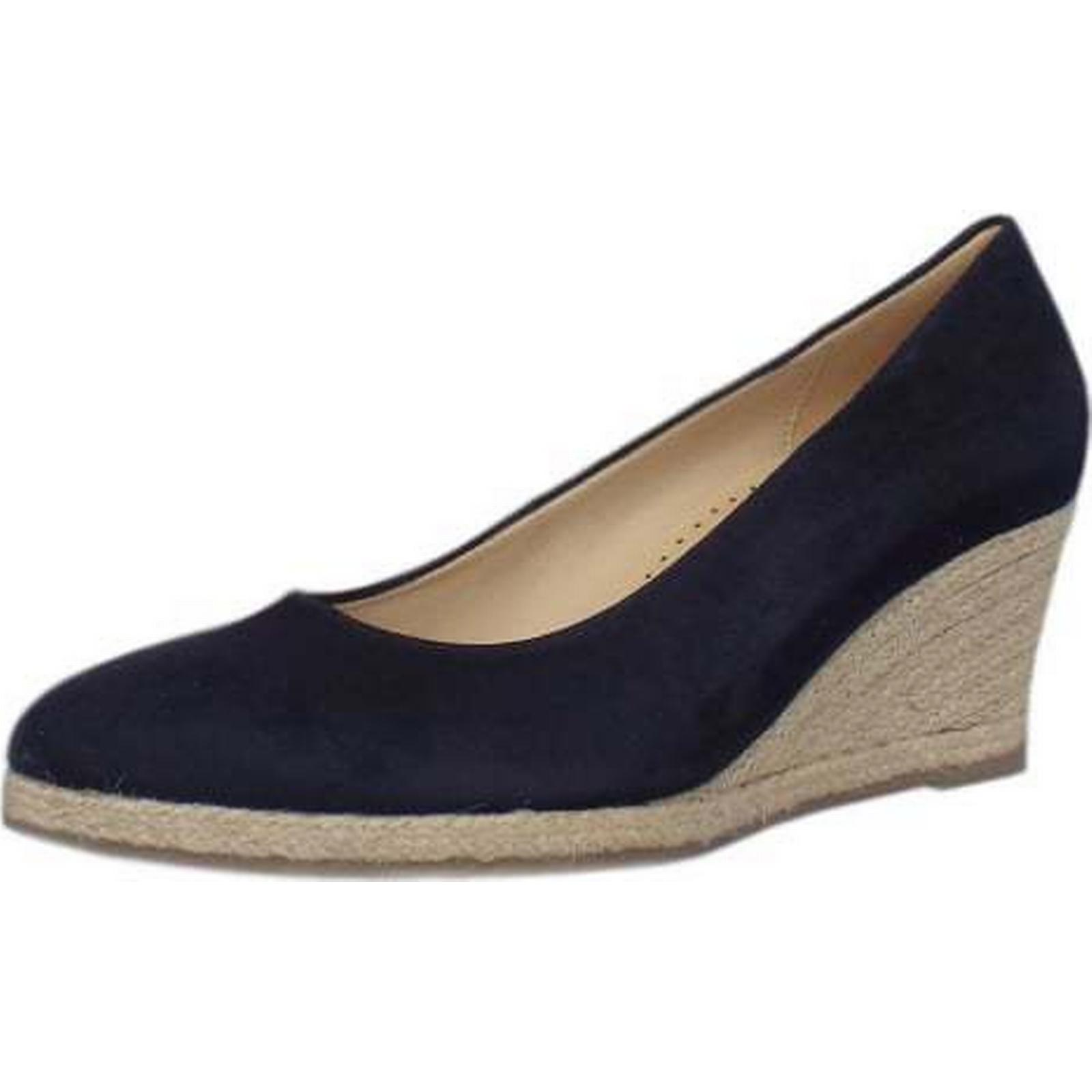 Gabor PAISLEY GABOR LADIES SUMMER WEDGE SHOE Size: Size: SHOE 3, Colour: NAVY e890e2