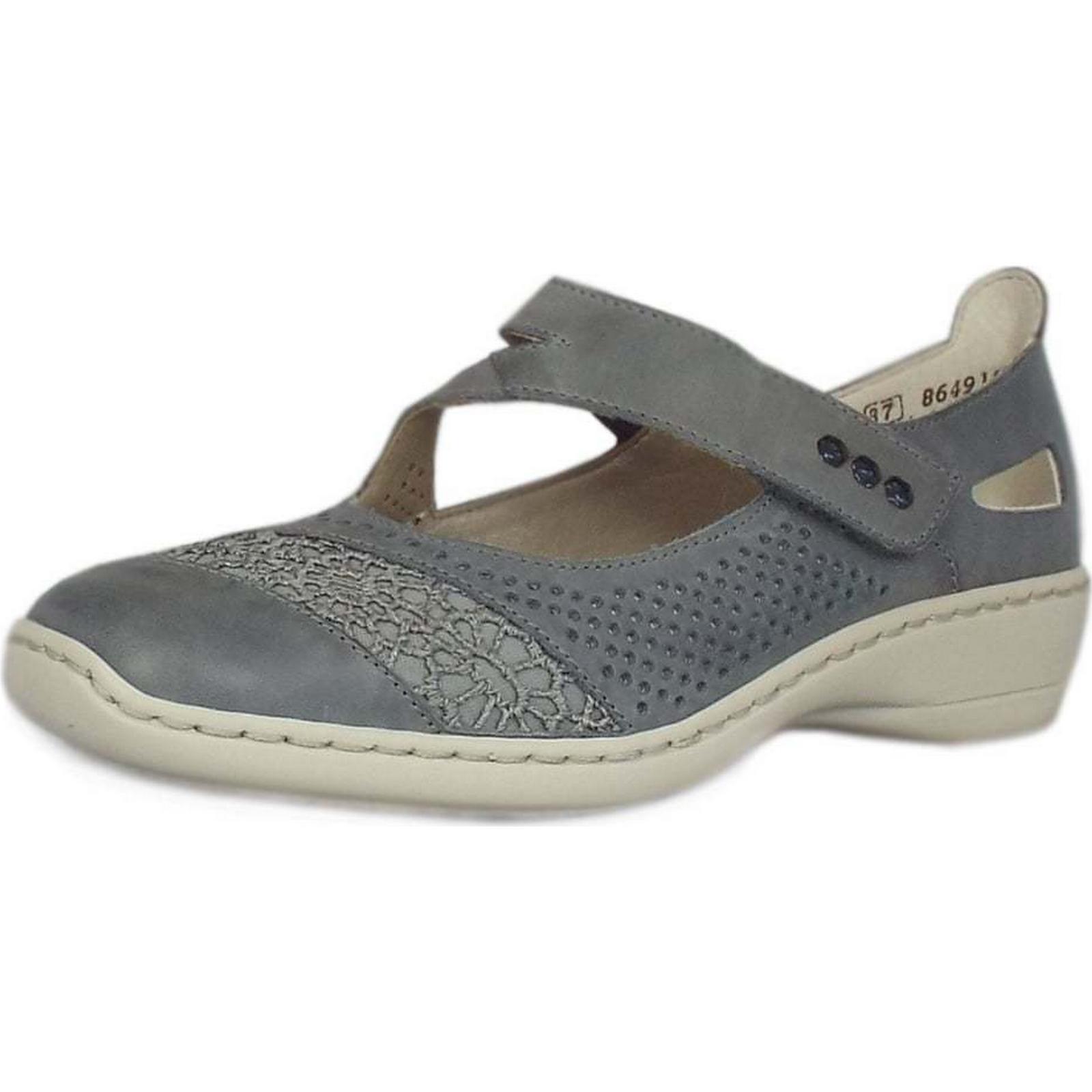 rieker zulu rieker chaussures mesdames summer chaussures rieker taille: 37, couleur: bleu 0dce32