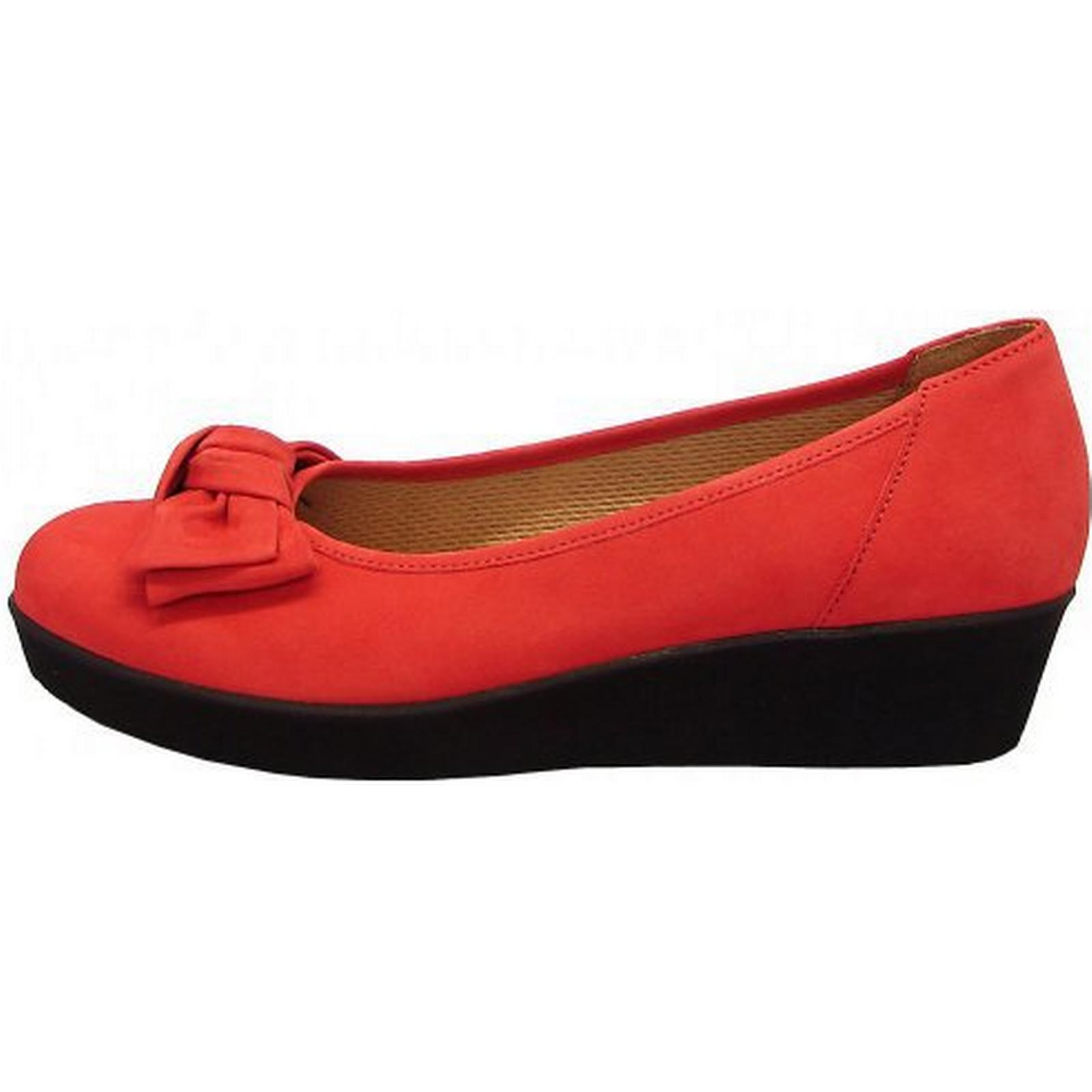 Gabor Haven Womens Wedge In Pump In Wedge Red With Bow Size: 7, Colour: RED 938d70