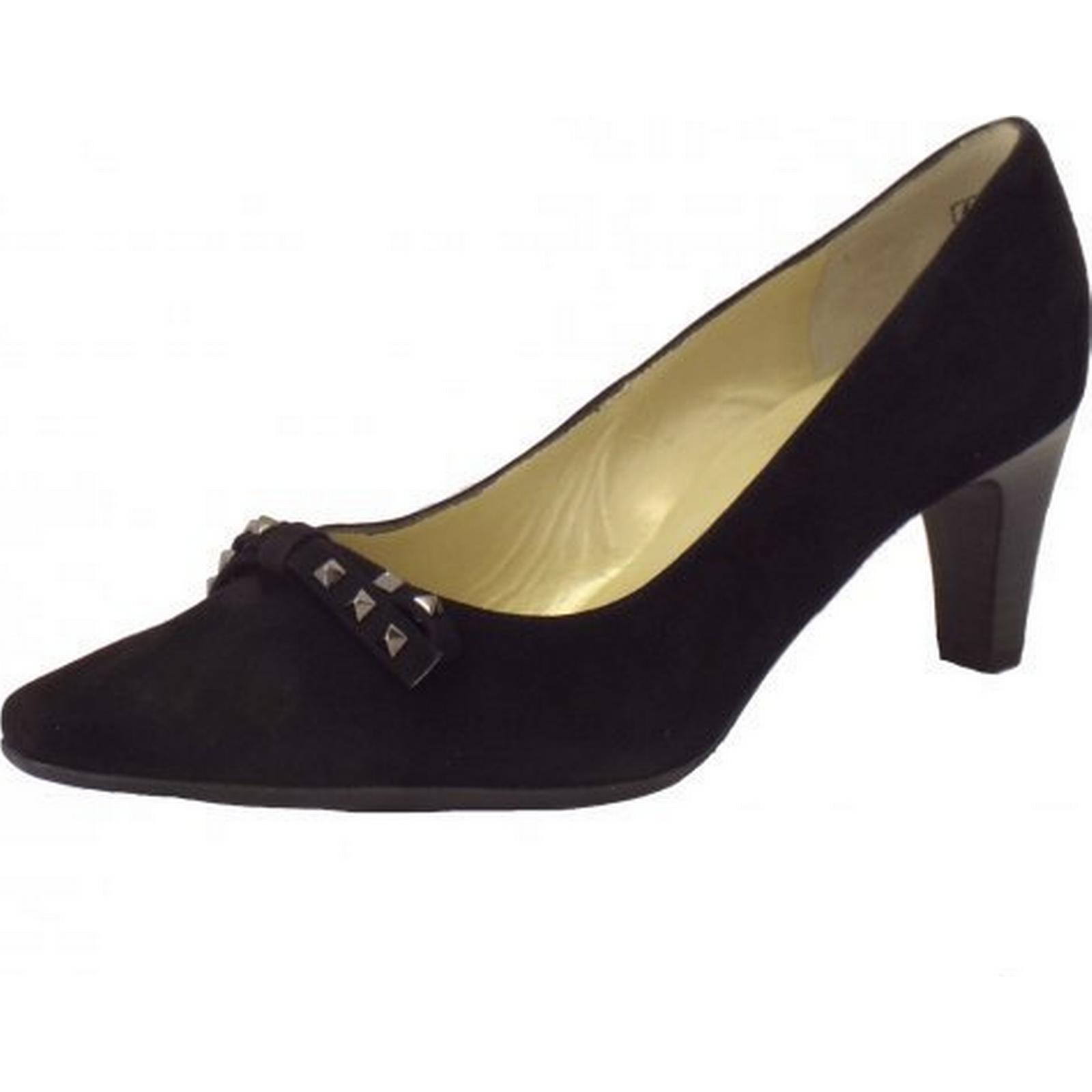 peter kaiser motala constellé de détails chaussures en daim noir détails de dames taille: 8 8431fb
