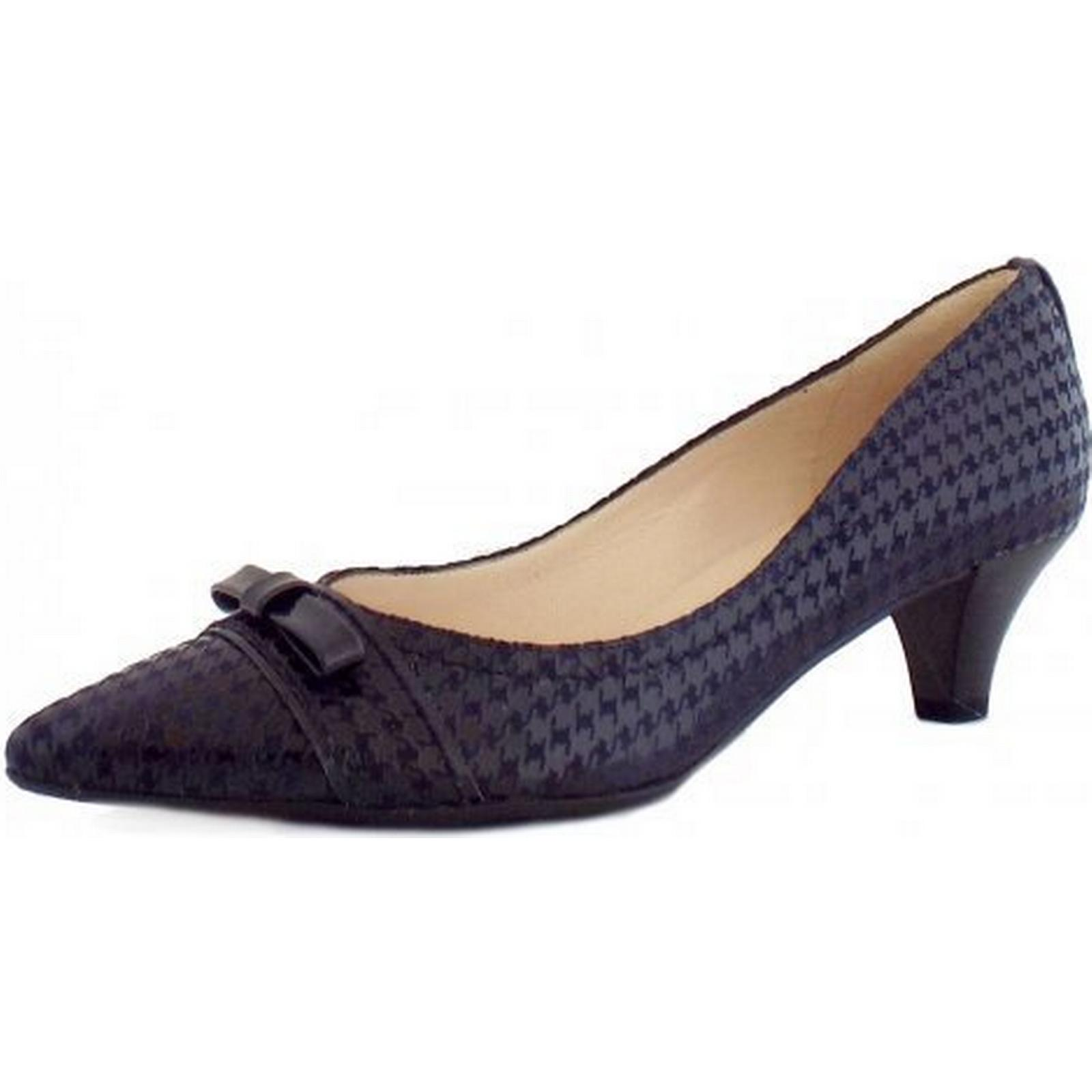 Peter Kaiser Donita Ladies Kitten Heel in in Heel Navy Check Size: 7 bbc93a