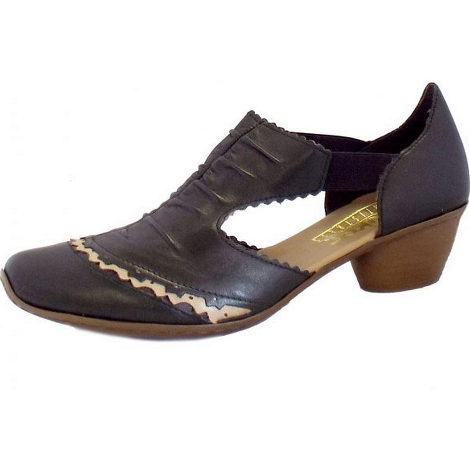 rieker hartley rieker mesdames summer noir chaussures taille: 38, la couleur: noir summer c404d0