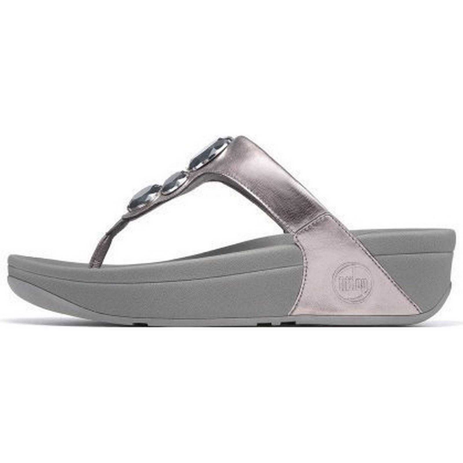 FitFlop PEWTER Lunetta Womens Sandals In Pewter Size: 8, Colour: PEWTER FitFlop 4bee05