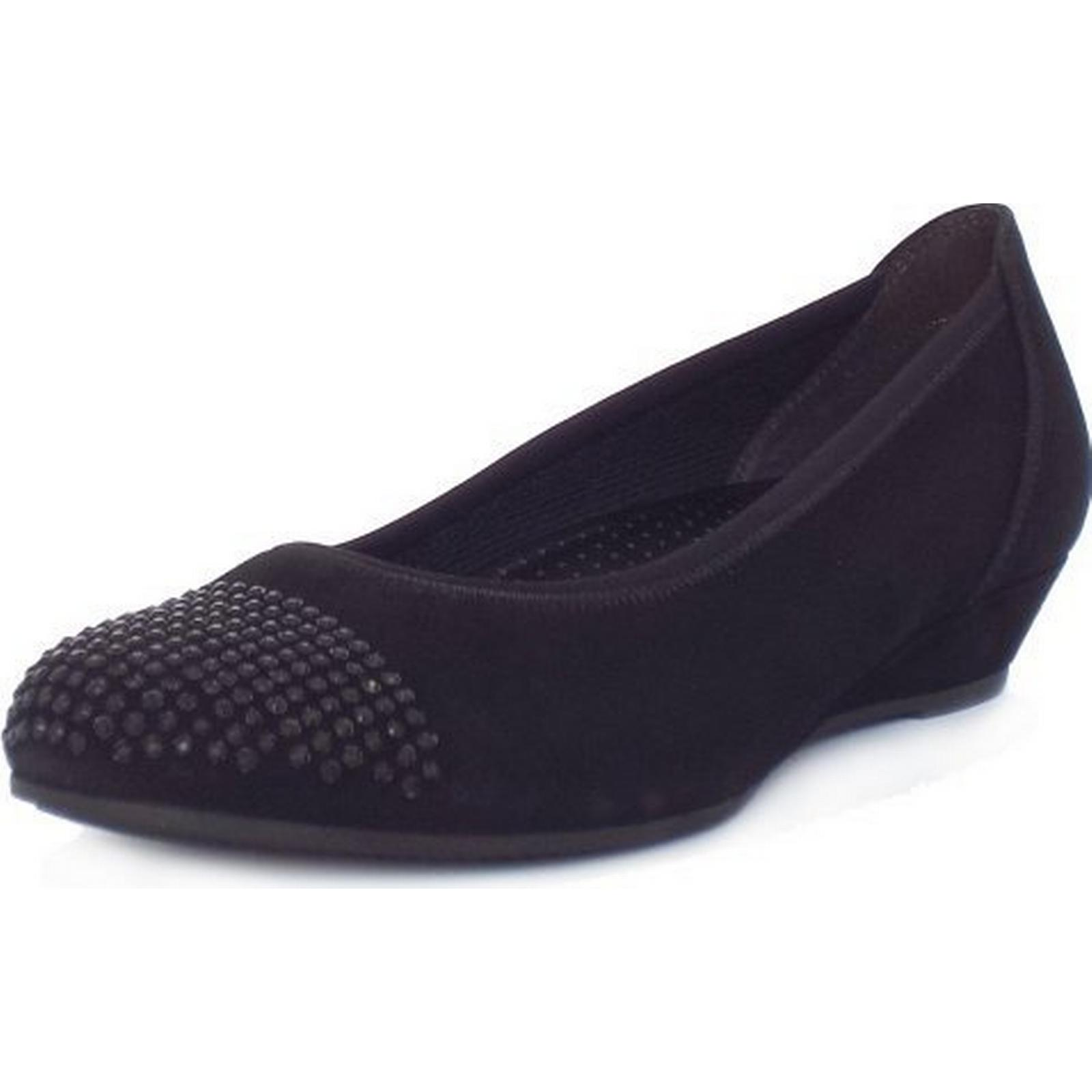 Gabor Mira Shoe In Black Size: 2, BLACK Colour: BLACK 2, SUED 8f6d7d