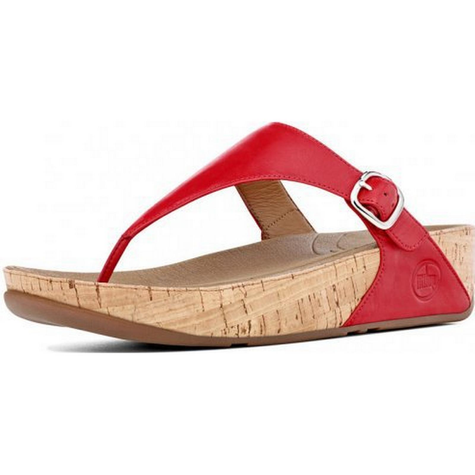 FitFlop The Skinny Sandal in FF Red Size: Colour: 3, Colour: Size: RED 9a8355
