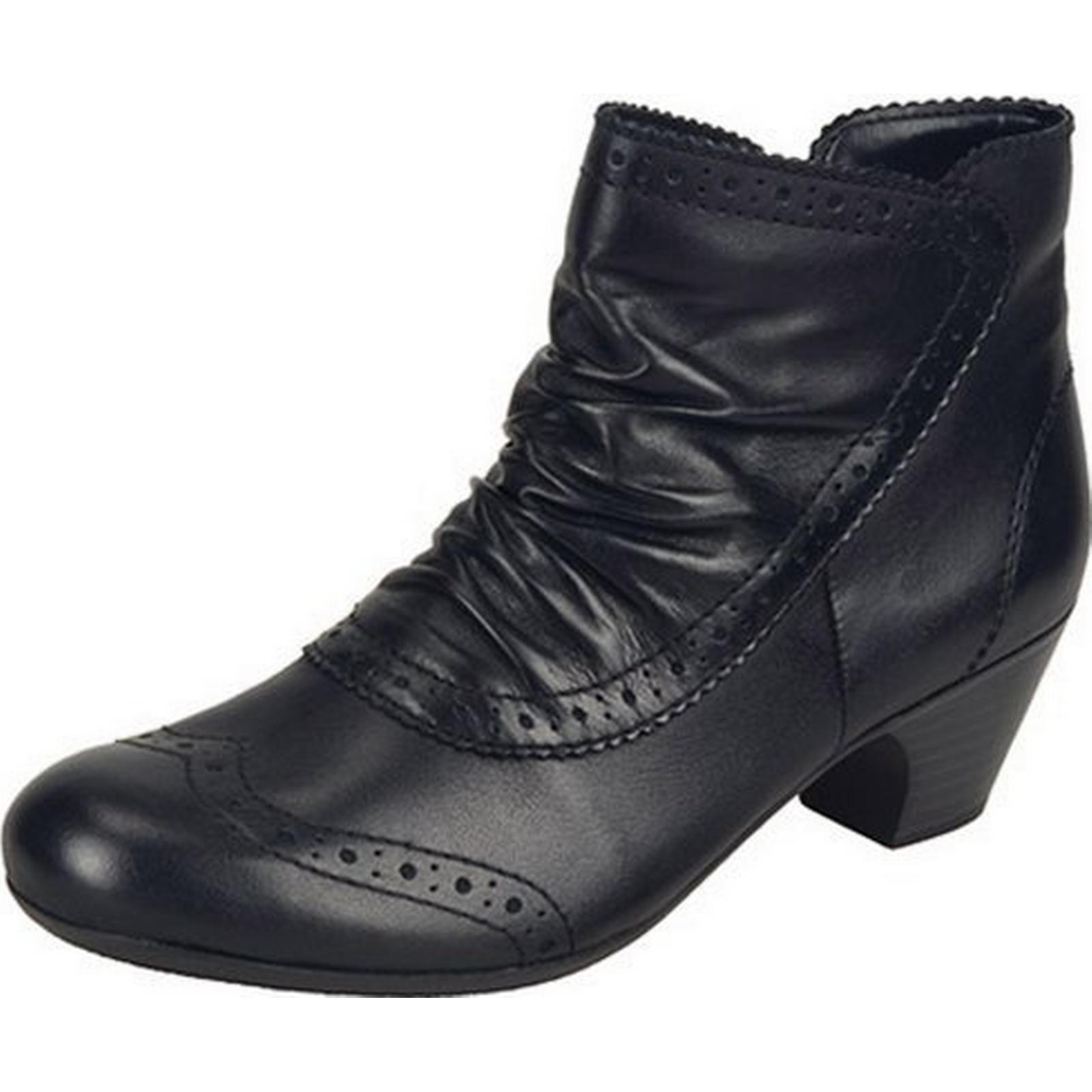 Rieker CHAMPION CHAMPION Rieker RIEKER LADIES ANKLE BOOTS Size: 38, Colour: BLACK d27ed4