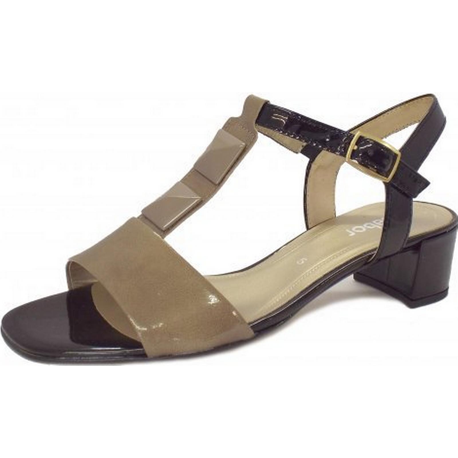 sandales à talon gabor cathédrale plus faible faible faible taille: 7, couleur: gris clair. 7e35f7
