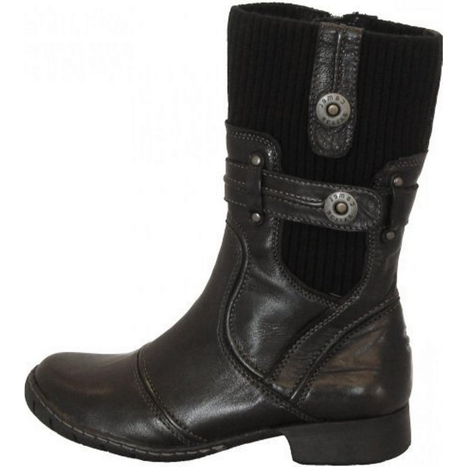 Camel Vegas Active Vegas Camel short boots in black Size: 6, Colour: BLACK 1bd85a