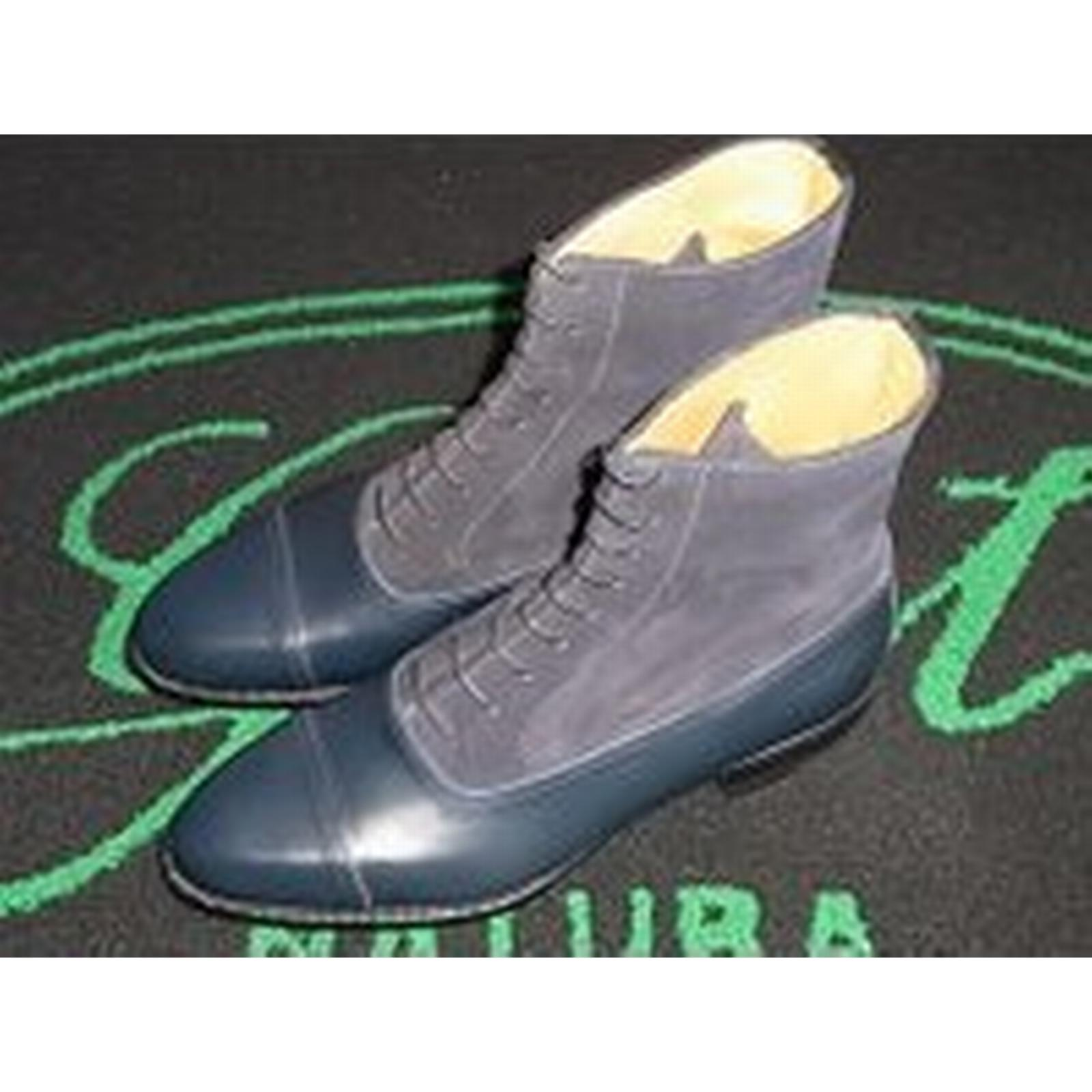 Bonanza (Global) New Handmade Two Men Two Handmade Tone Boots Grey And Blue Oxford Boots Men Ankle High 0d4a6f