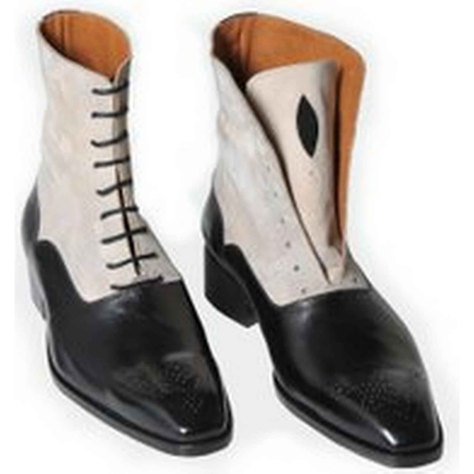 Bonanza (Global) Handmade Men Tone Two Tone Men Ankle Boots, Men Dress Boots, Leather Boot For Men 1cf475