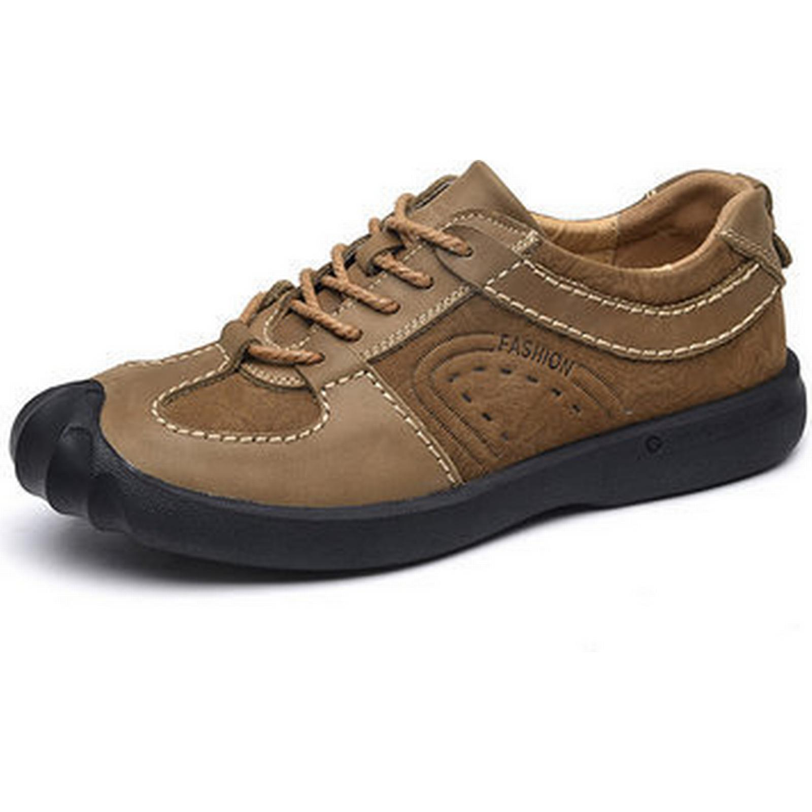 Men's Leather Genuine Leather Men's Splicing Outdoor Casual Shoes 3d486a
