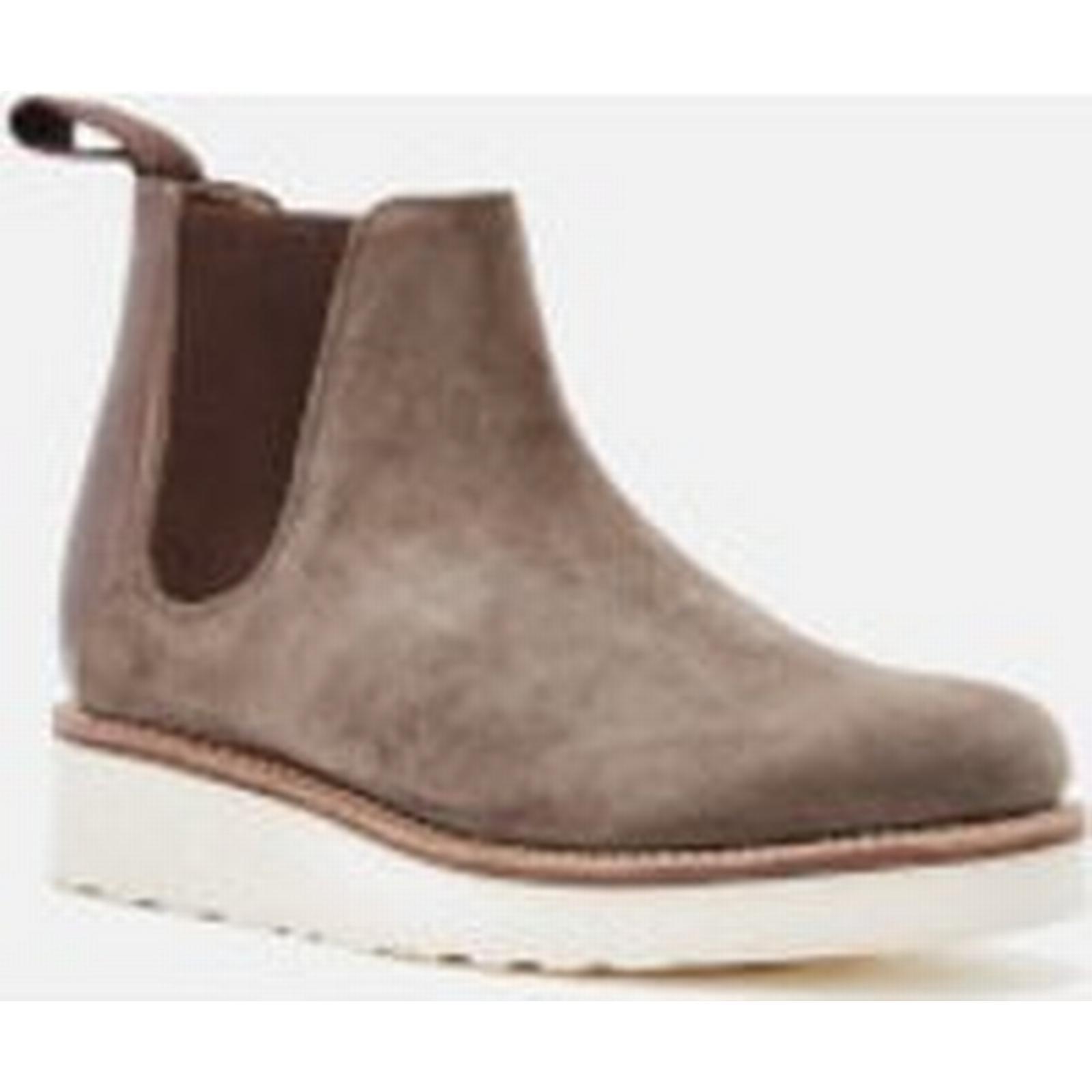 Grenson Boots Women's Lydia Suede Chelsea Boots Grenson - Vigogna/Chocolate Metallic 4a5f79