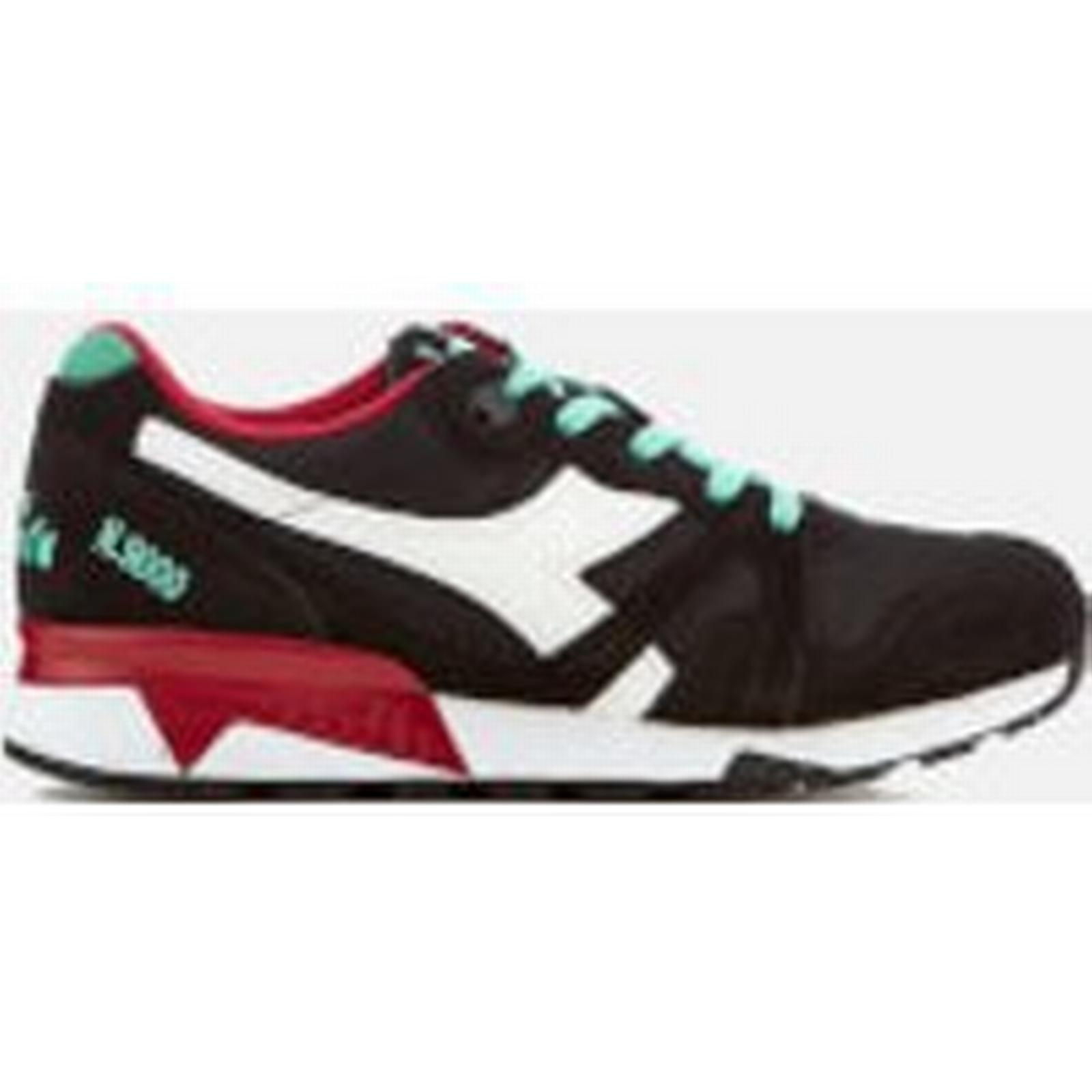Diadora Men's N9000 III Trainers - 9 Black/Waterfall/Chilli Pepper - UK 9 - - Black 96f720