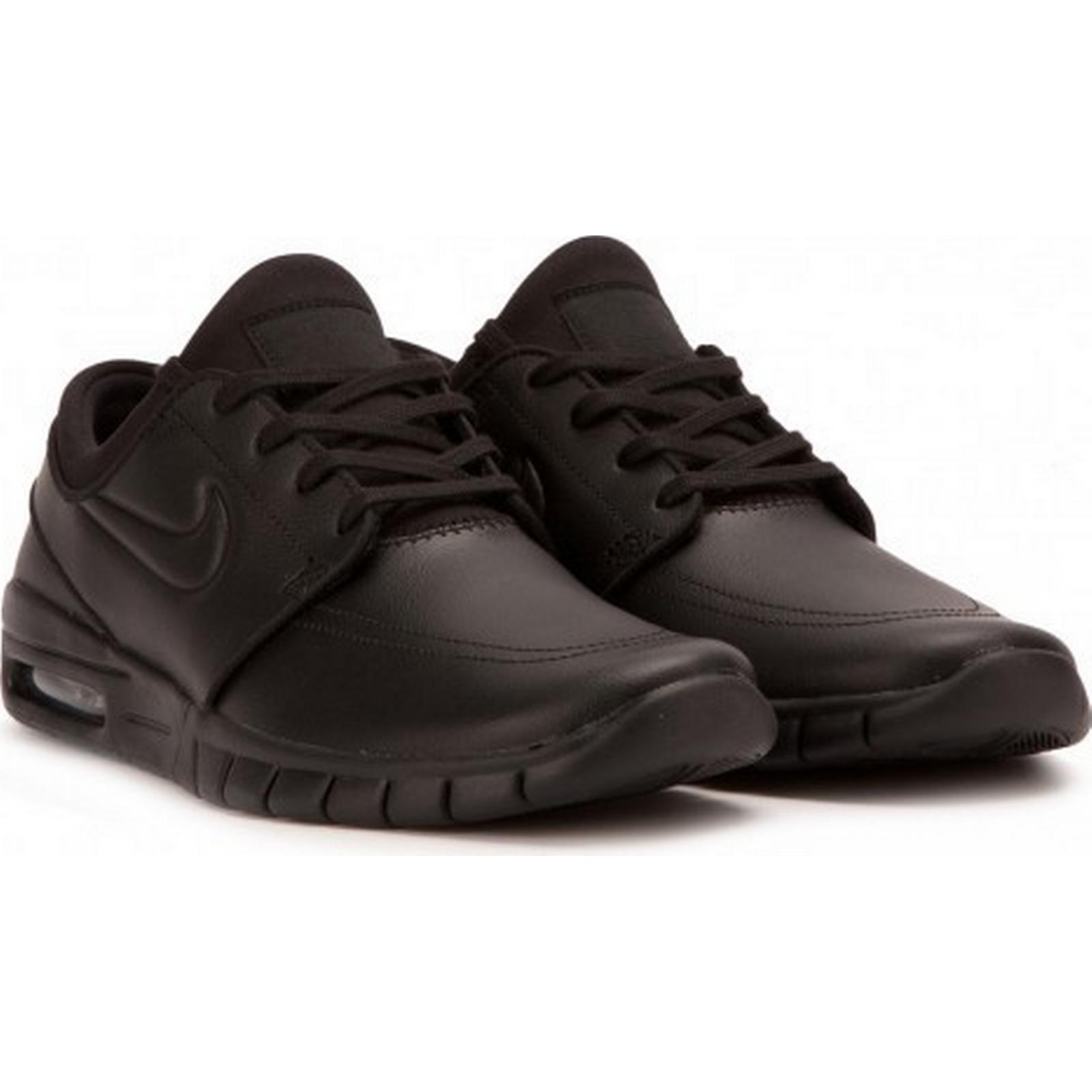 Nike Leather SB Stefan Janoski Max Leather Nike (Black) e6f12e