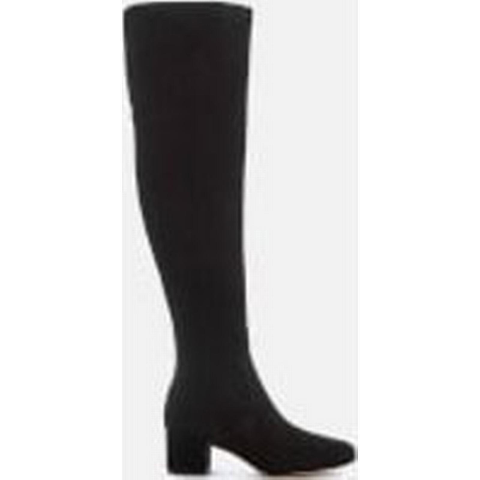 Sam Thigh Edelman Women's Elina Suede Thigh Sam High Boots - Black c40daa