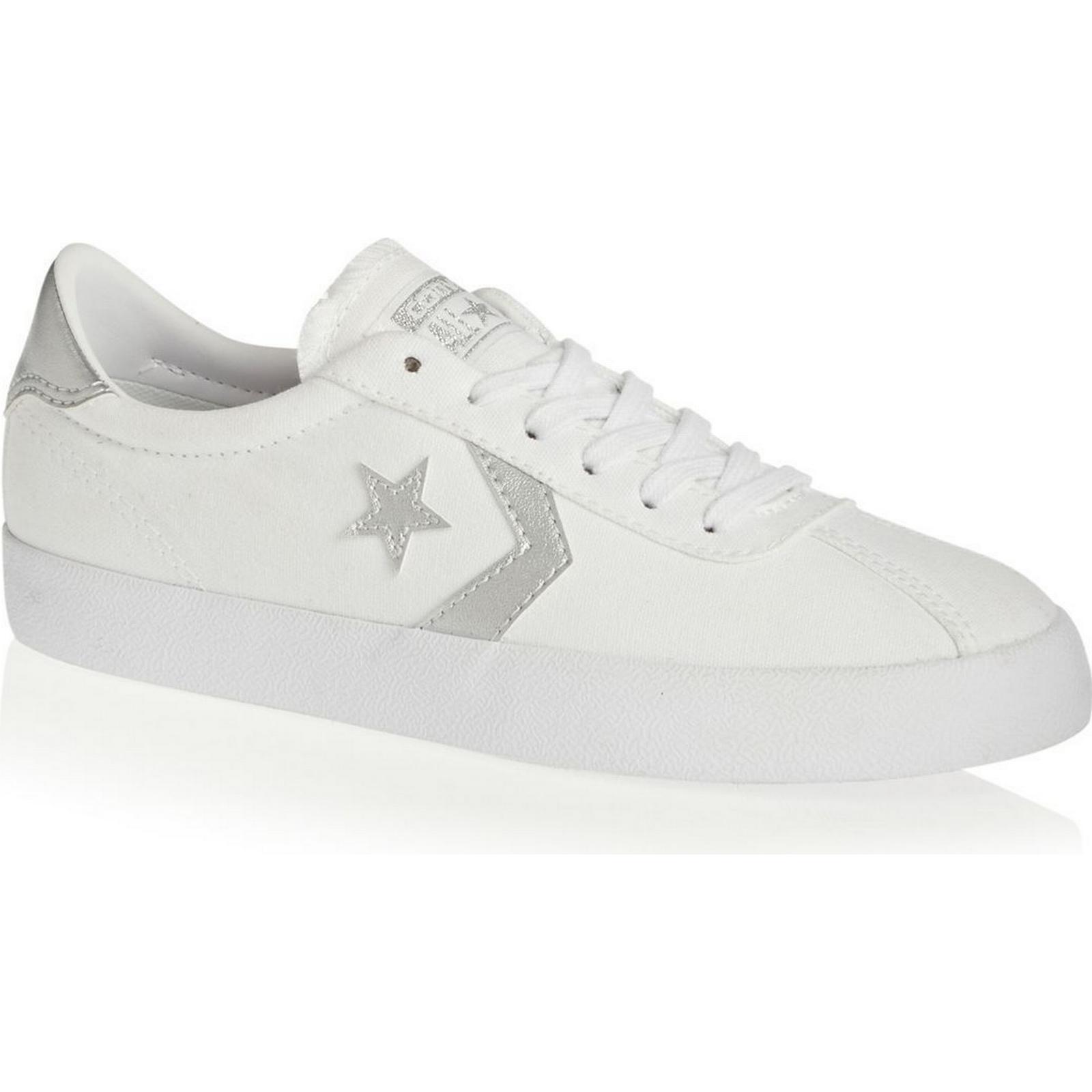 Converse Breakpoint Women's Converse Shoes - Converse Breakpoint Converse Ox Shoes- White/Sure Silver ecc034