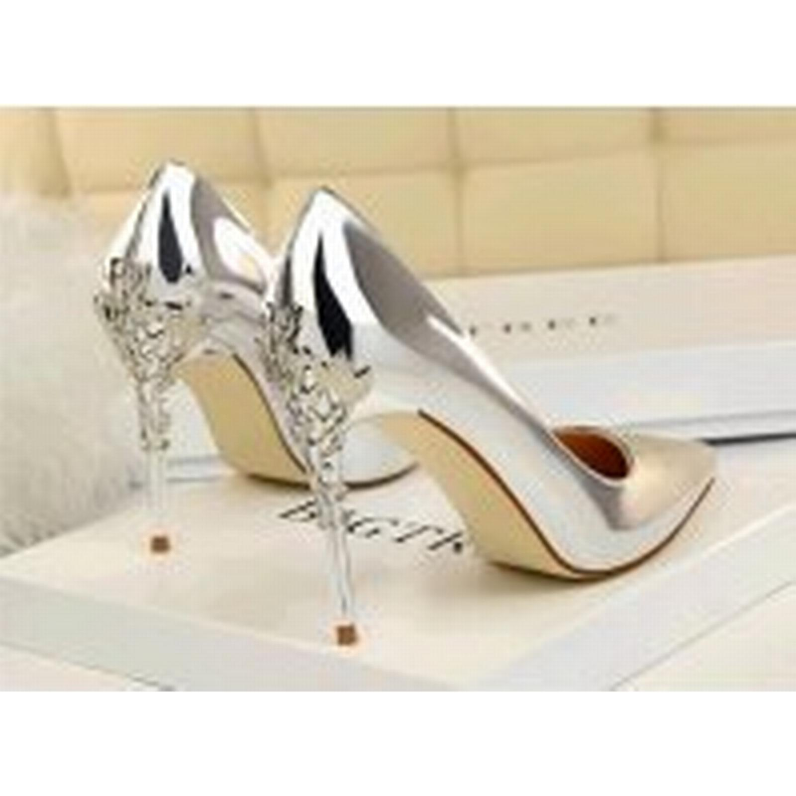 Bonanza (Global) pp458 pp458 (Global) luxury candy color pump w metallic heels, US Size 5-8.5, silver fa0785