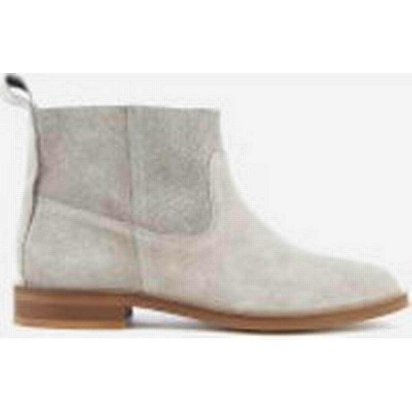 Hudson London Women's Odina Suede Flat UK Boots - Grey - UK Flat 7 - Grey ca8775