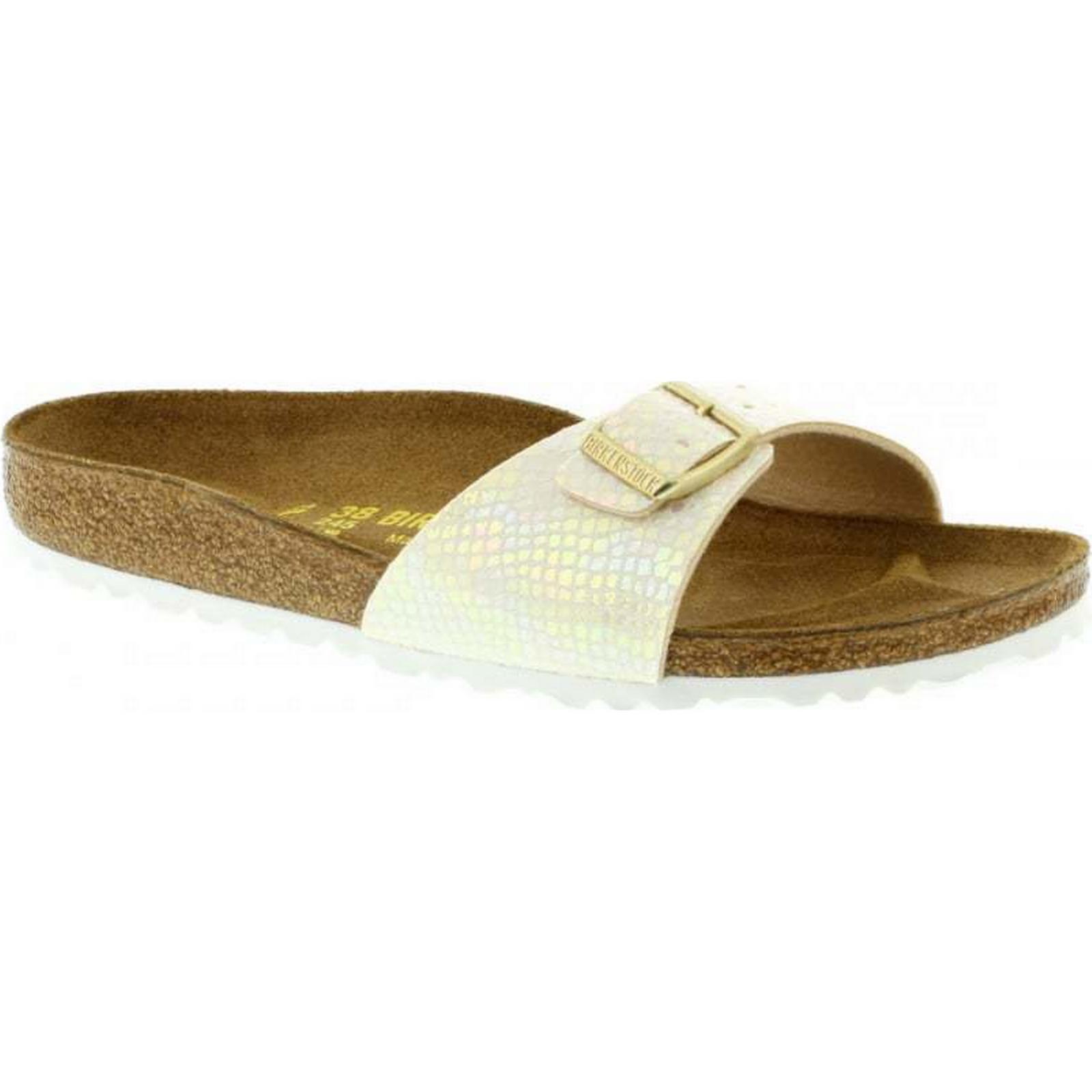 Birkenstock Madrid Narrow Fit Size: - Shiny Snake Cream 439913 Size: Fit 37 EU e0dadb