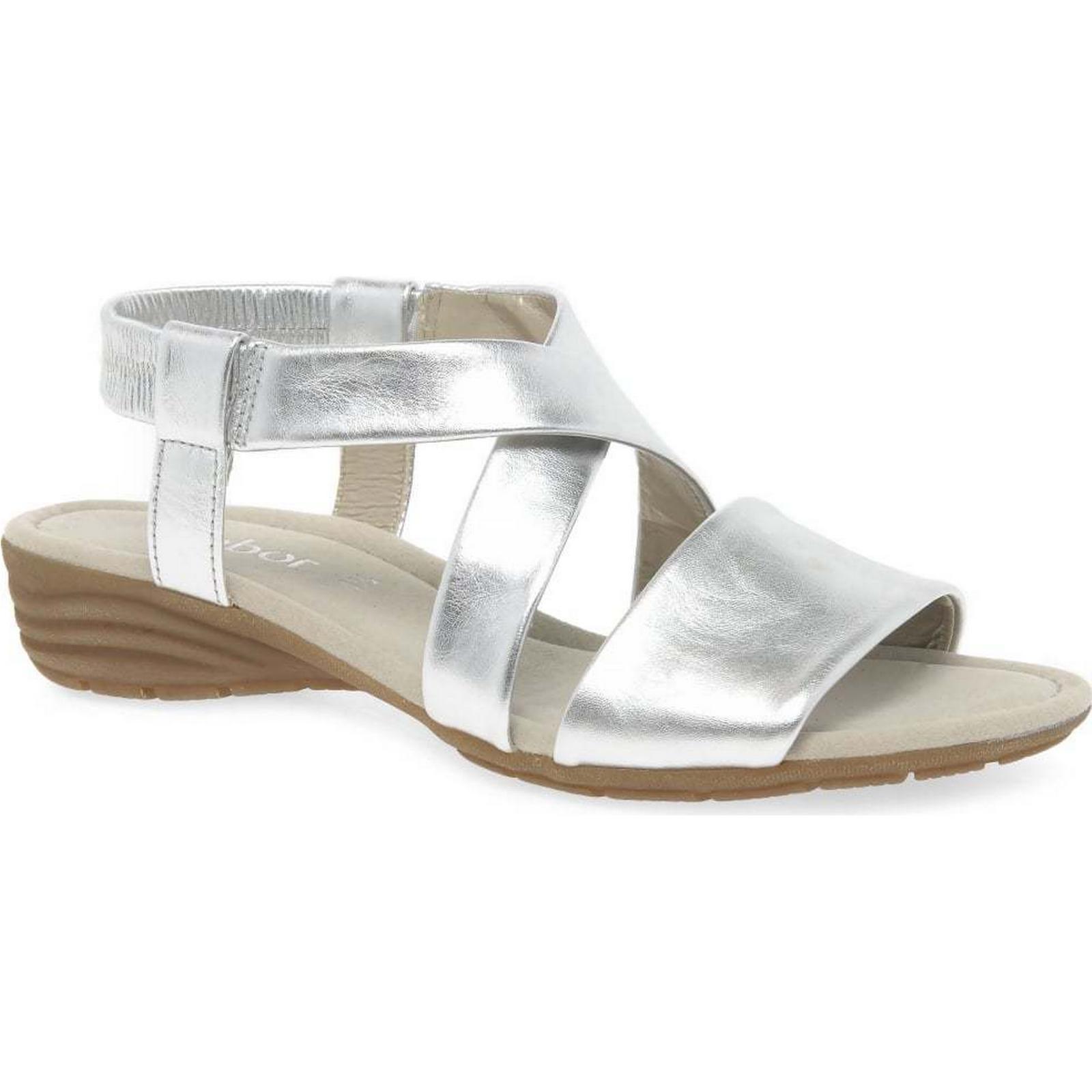 Gabor Colour: Ensign Womens Casual Sandals Colour: Gabor Silver, Size: 6 5c205a