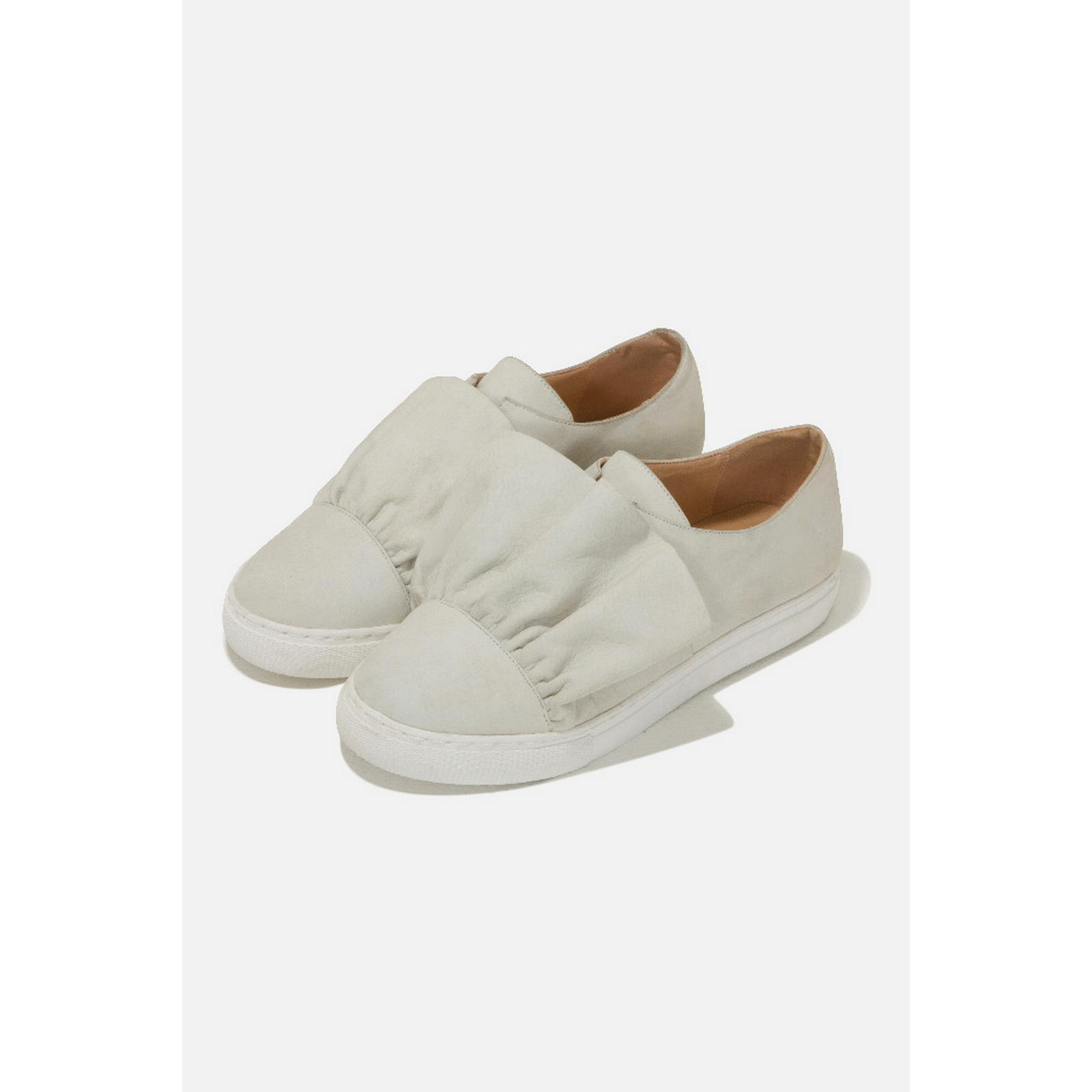 Lavish Alice Leather Ruffle Size Trainers in Stone - Size Ruffle EU 40 c21a21