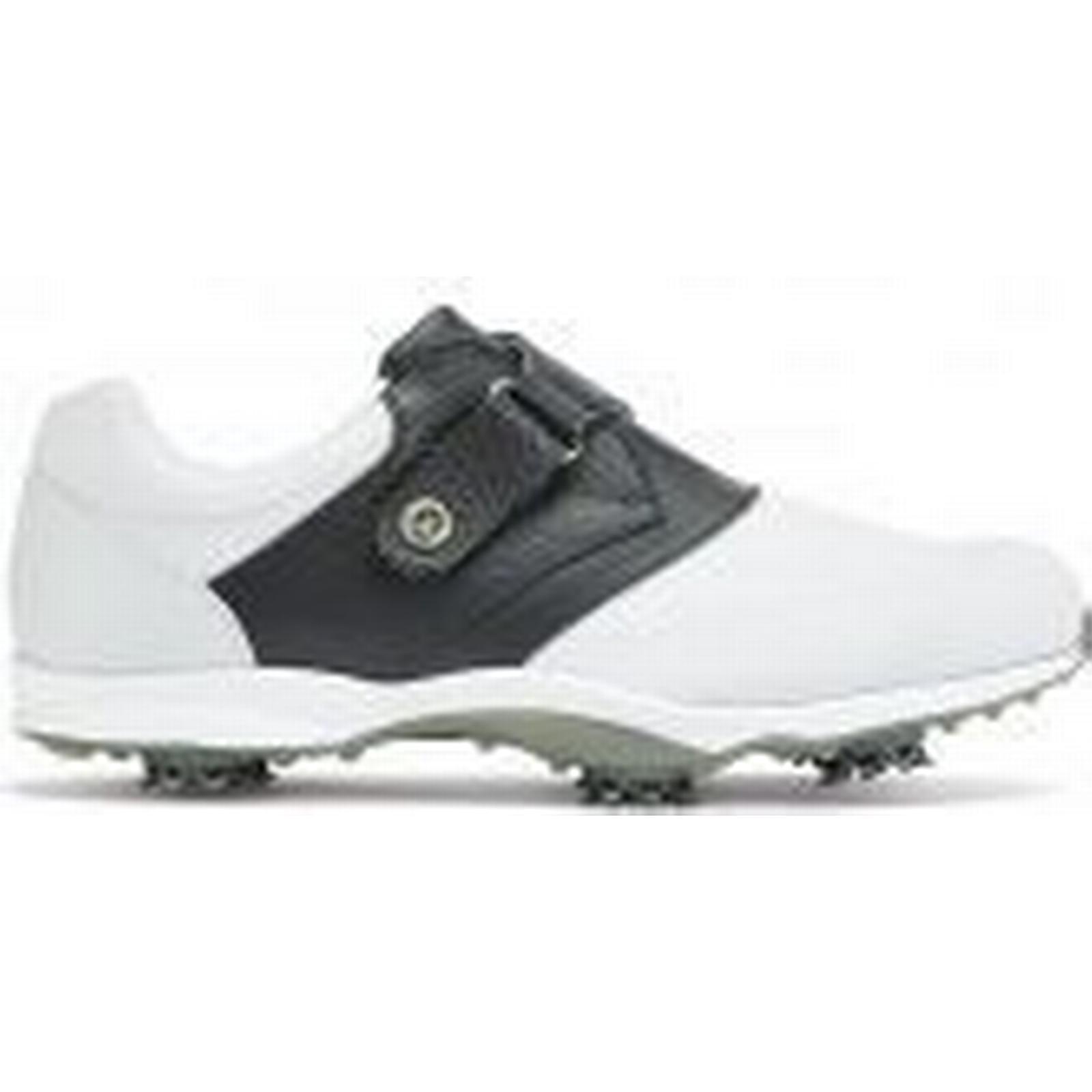 EmBODY 18 Ladies Shoes Velcro Golf Shoes Ladies - White/Navy e61b44