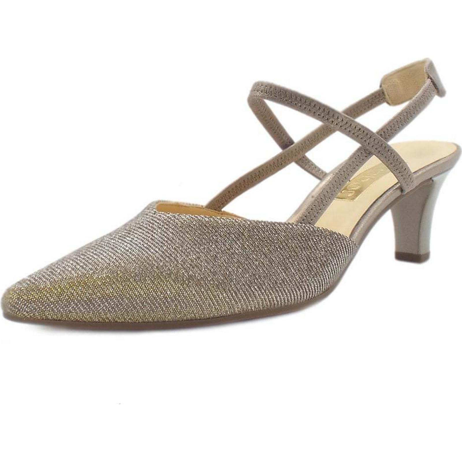 Gabor CASTELLO Size: GABOR LADIES SANDALS Colour: SILVER/GOLD, Size: CASTELLO 3.5 64a731