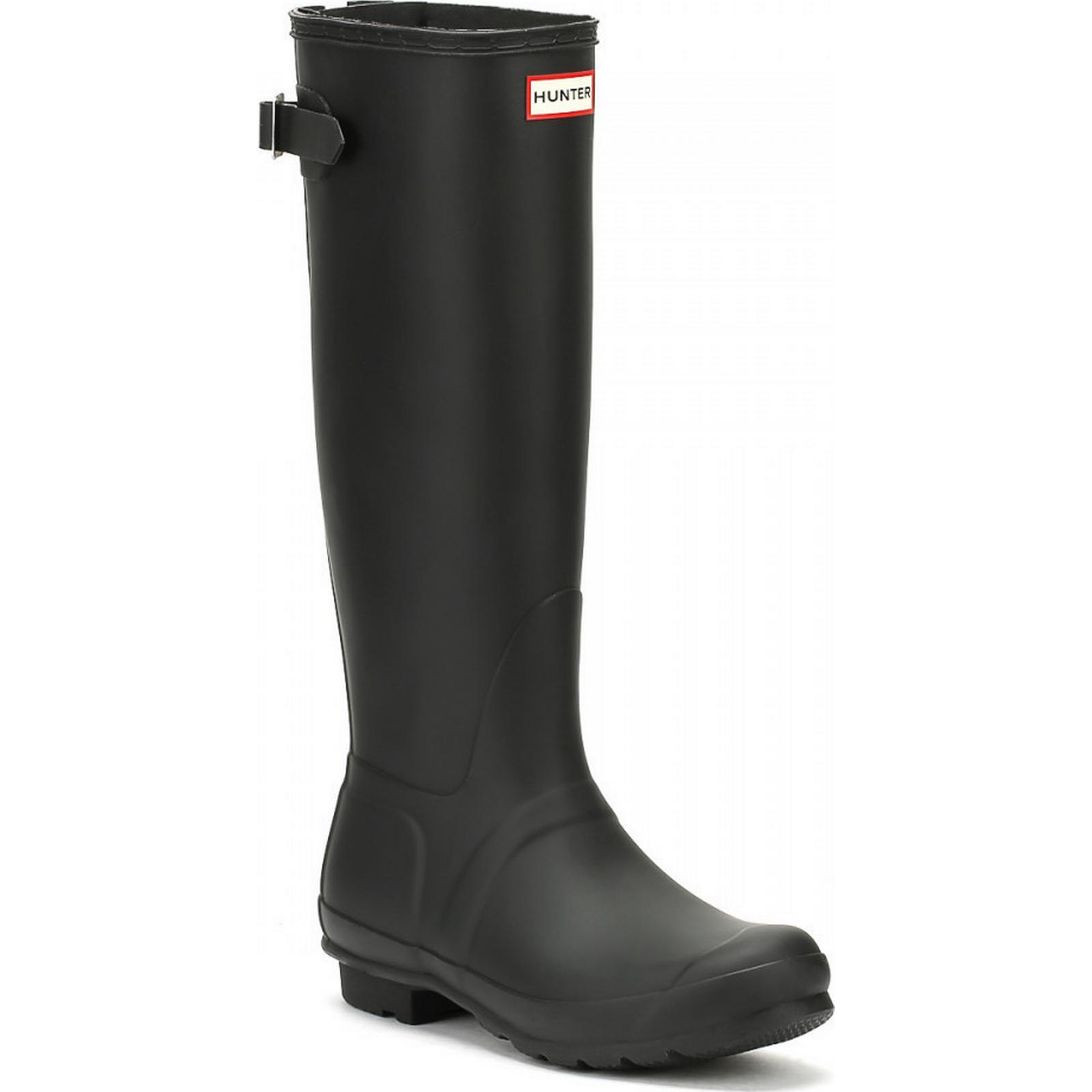 Hunter Original Wellington Womens Black Back Adjust Wellington Original Boots bd1350