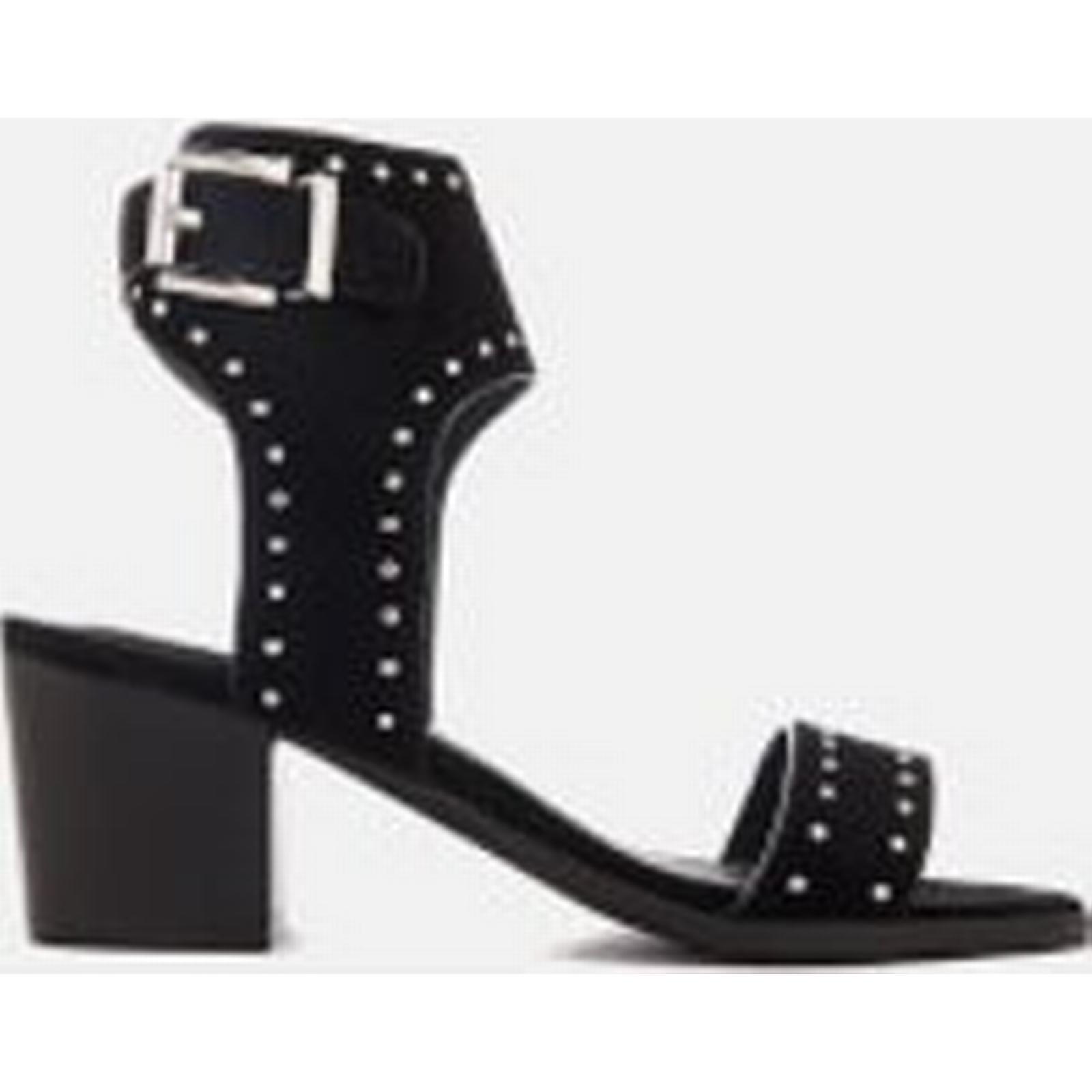 Sol Heeled Sana Women's Bev Suede Heeled Sol Sandals - Black Stud 8645c9