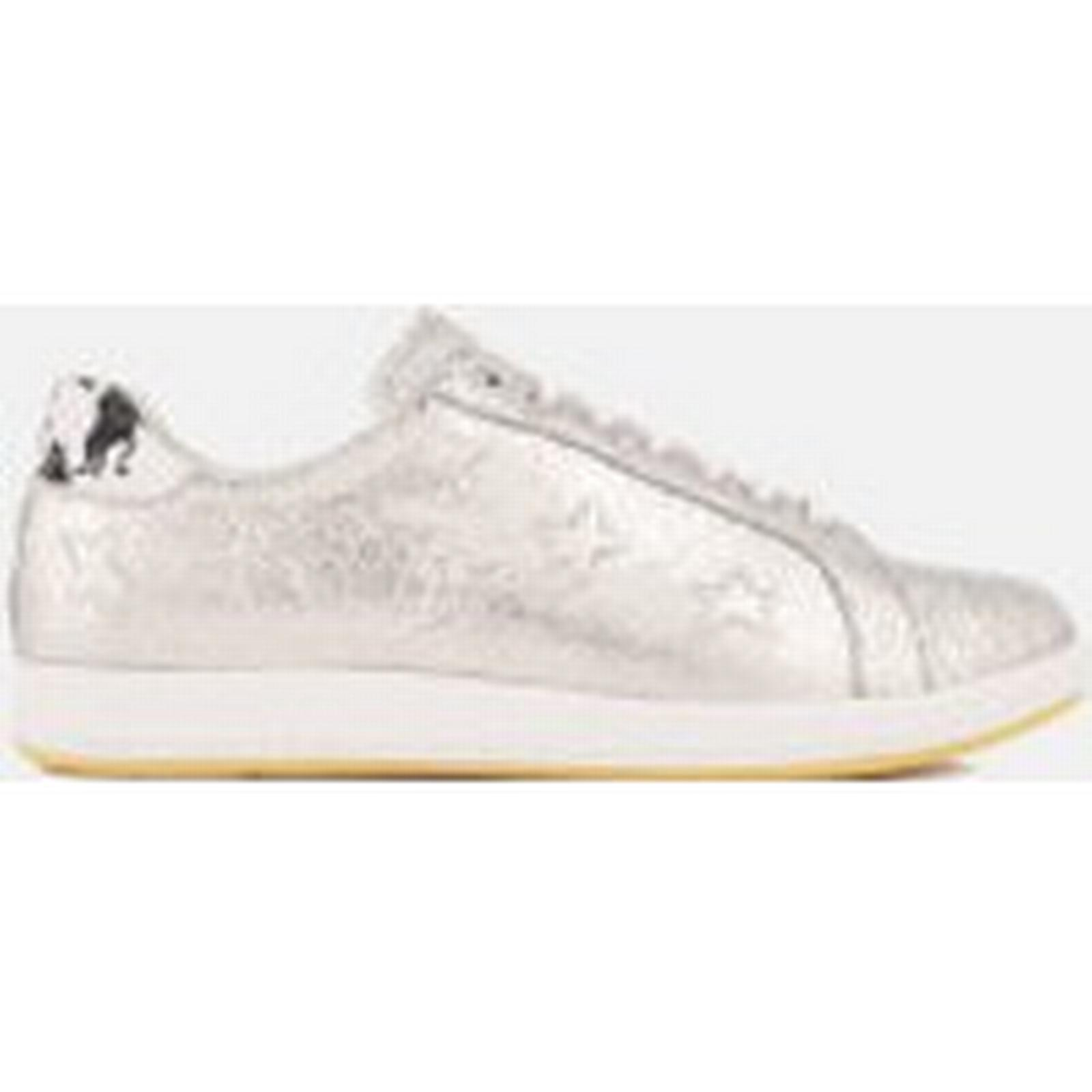 PS by Paul Smith Trainers Women's Lapin Leather Court Trainers Smith - Metallic Silver - UK 3 - Silver f1dd3f