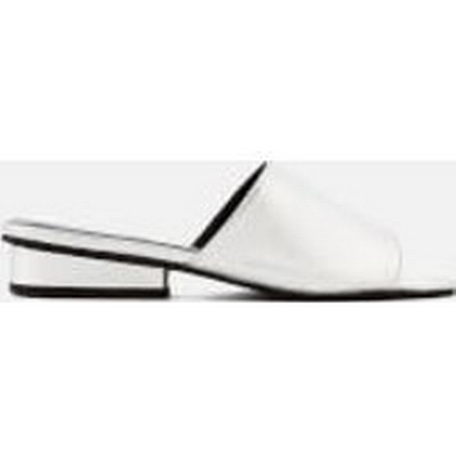 Sol Leather Sana Women's Hamilton Leather Sol Flat Mules - Silver 70cedd