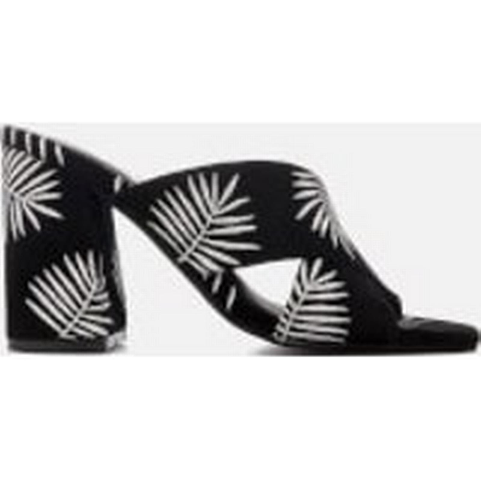 Sol Sana Women's Ginny Palm Embroidered Heeled Mules 3 - Palm - UK 3 Mules - Black 333fa9