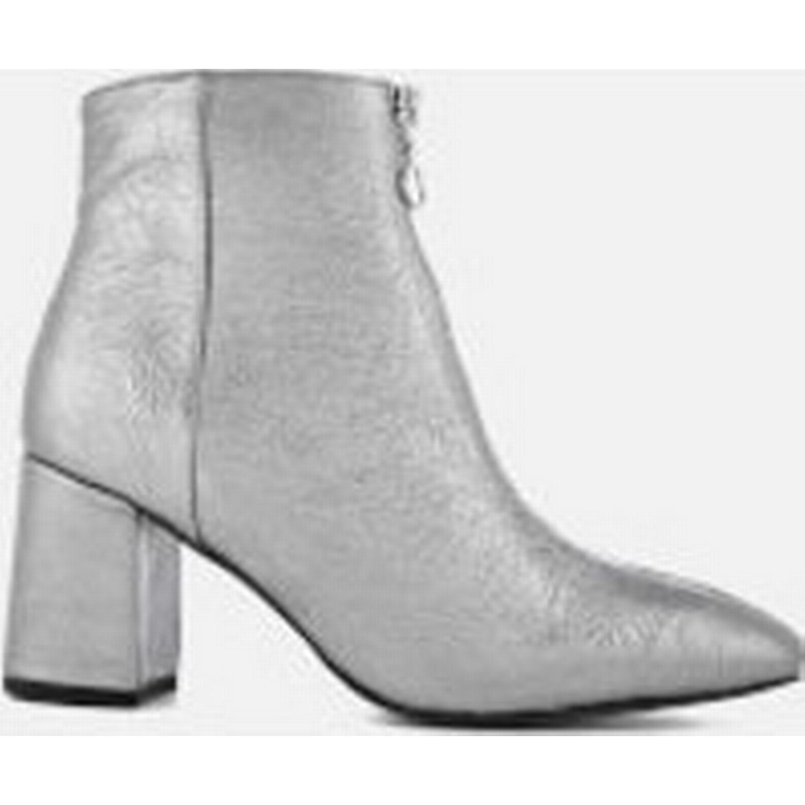 Rebecca Minkoff Women's Stefania Heeled Grey Ankle Boots - Rock Grey Heeled - UK 7 - Grey c4fc4f