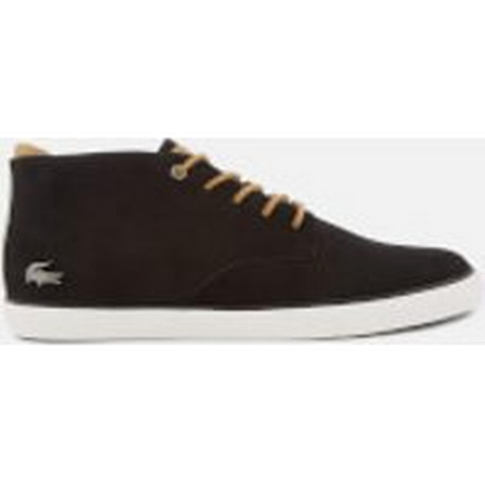 Lacoste Nubuck Men's Esparre 118 1 Nubuck Lacoste Chukka Boots - Black/Light Brown 29ebe5