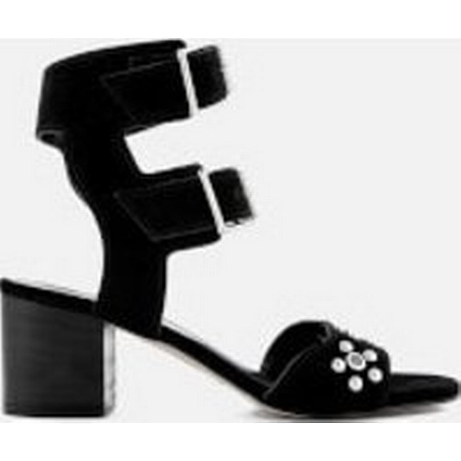 Rebecca Minkoff Women's Sofia Suede Heeled Sandals - Black Black - UK 4 - Black Black b28c5c