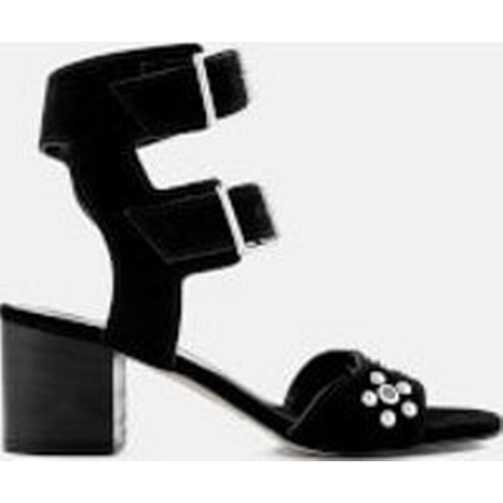 Rebecca Minkoff Women's - Sofia Suede Heeled Sandals - Women's Black b0c98d