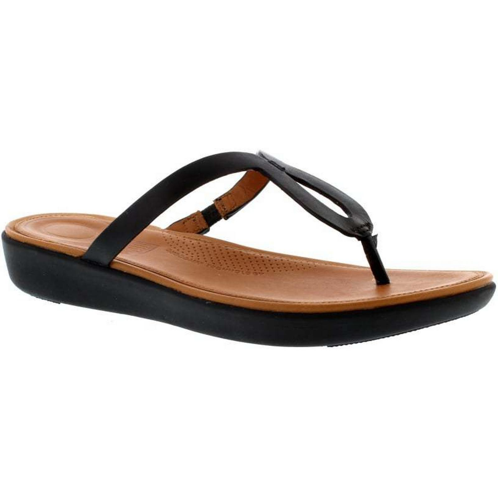 FitFlop™ - FitFlop Strata Toe Thong - FitFlop™ Black Size: 6 UK 72342c