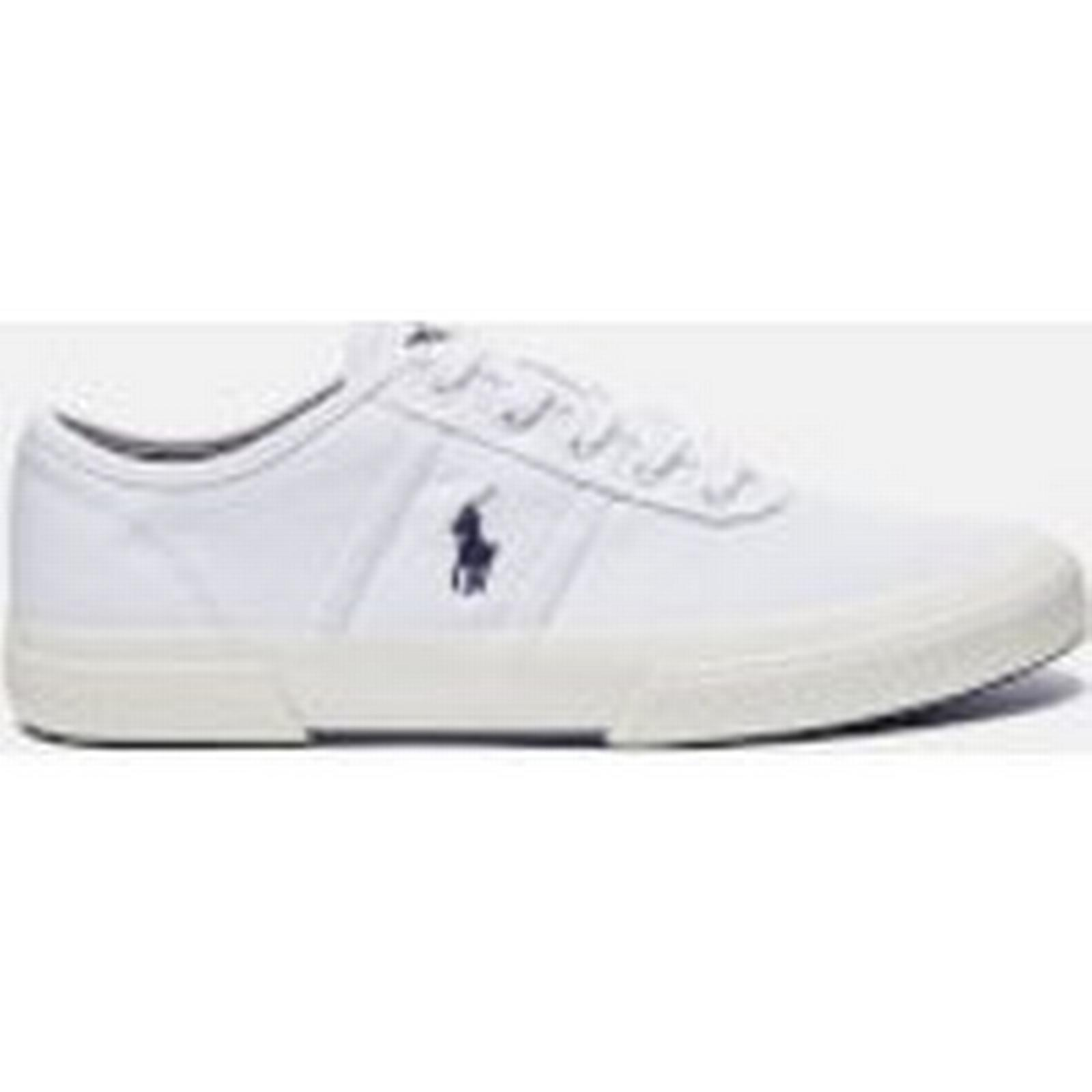 Polo Ralph Lauren Men's Tyrian Canvas Trainers UK - Pure White - UK Trainers 11 - White 2cfecd